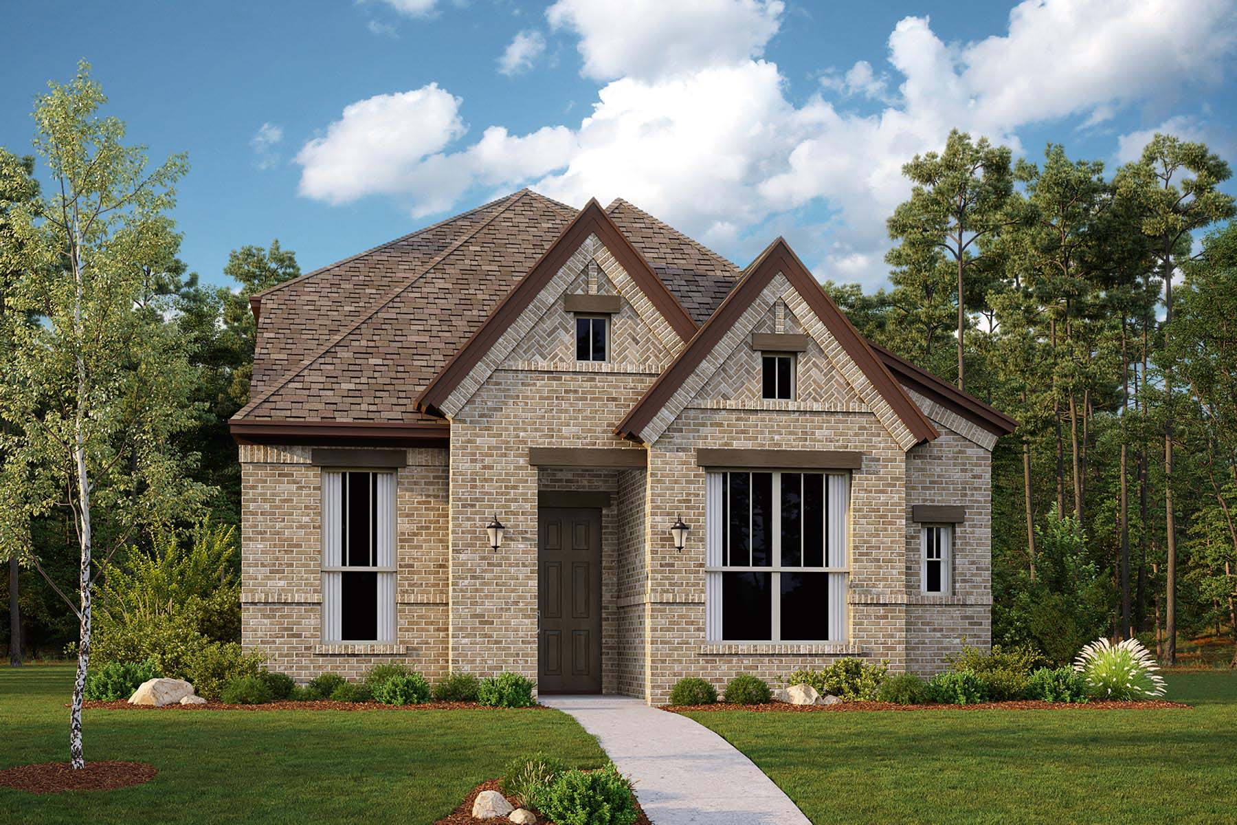 Willow Plan Elevation Front at Kensington Place in Farmers Branch Texas by Mattamy Homes