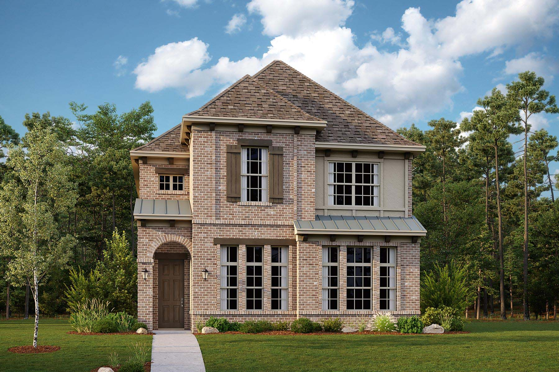 Woodland Plan DAL_KensingtonPlace_Woodland_ElevationA_1800x1200 at Kensington Place in Farmers Branch Texas by Mattamy Homes