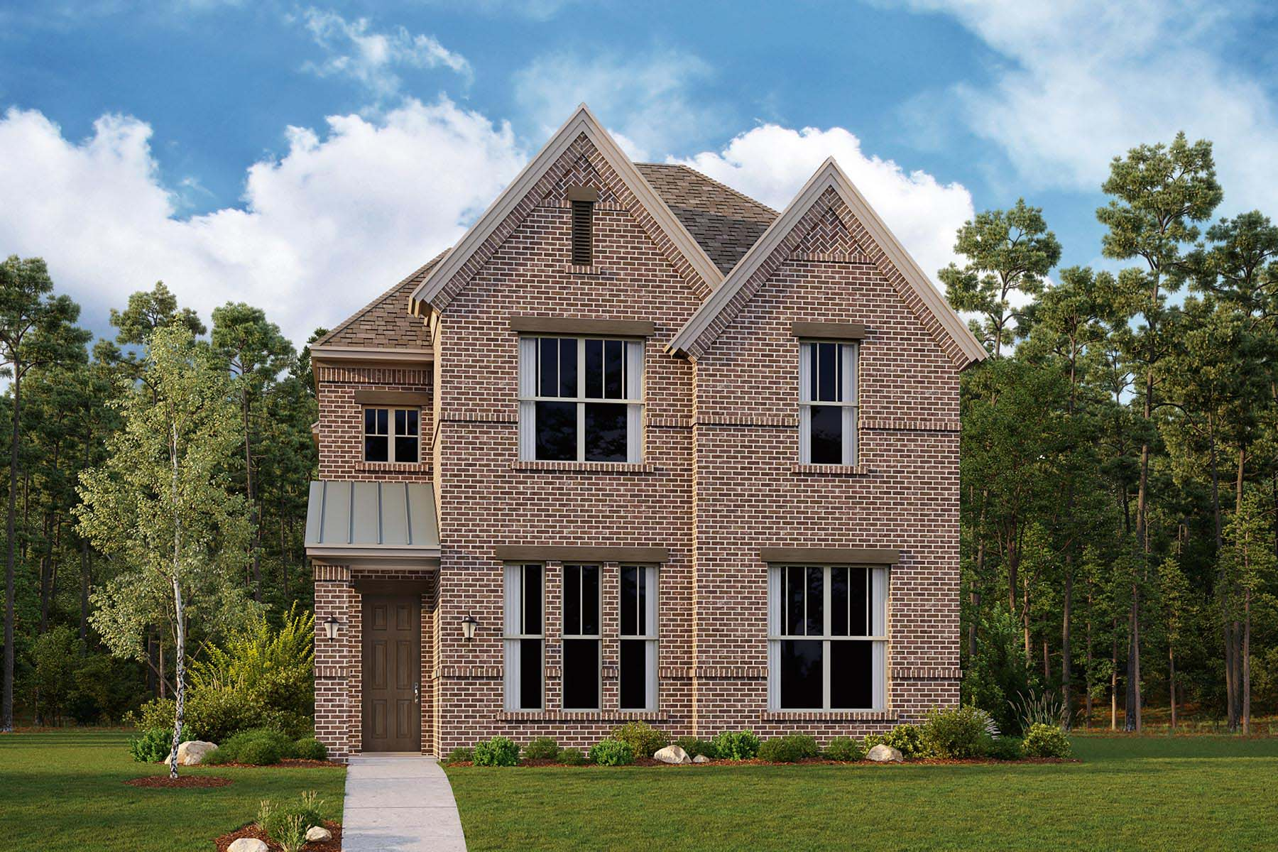 Woodland Plan Elevation Front at Kensington Place in Farmers Branch Texas by Mattamy Homes