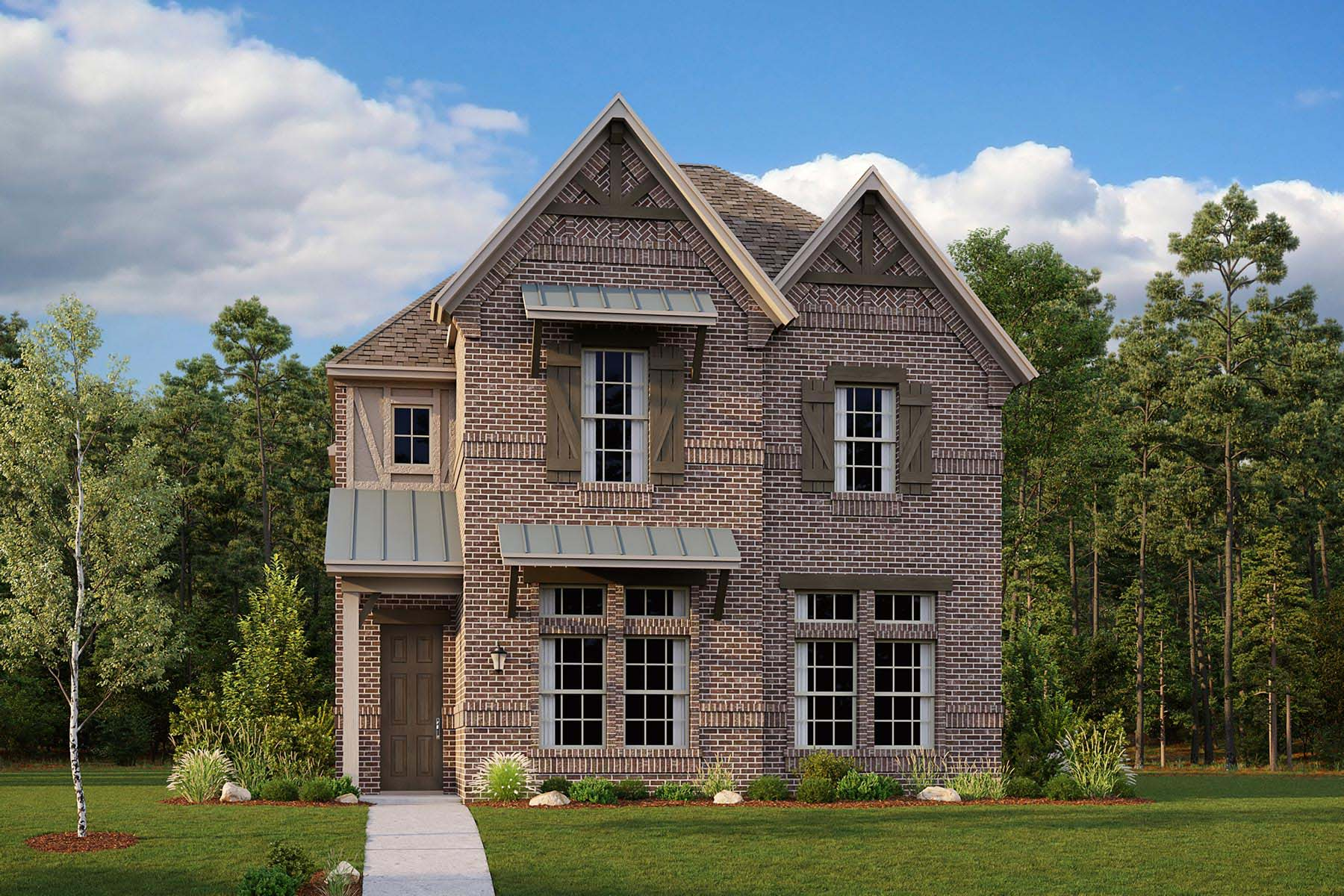 Woodland Plan DAL_KensingtonPlace_Woodland_ElevationC_1800x1200 at Kensington Place in Farmers Branch Texas by Mattamy Homes