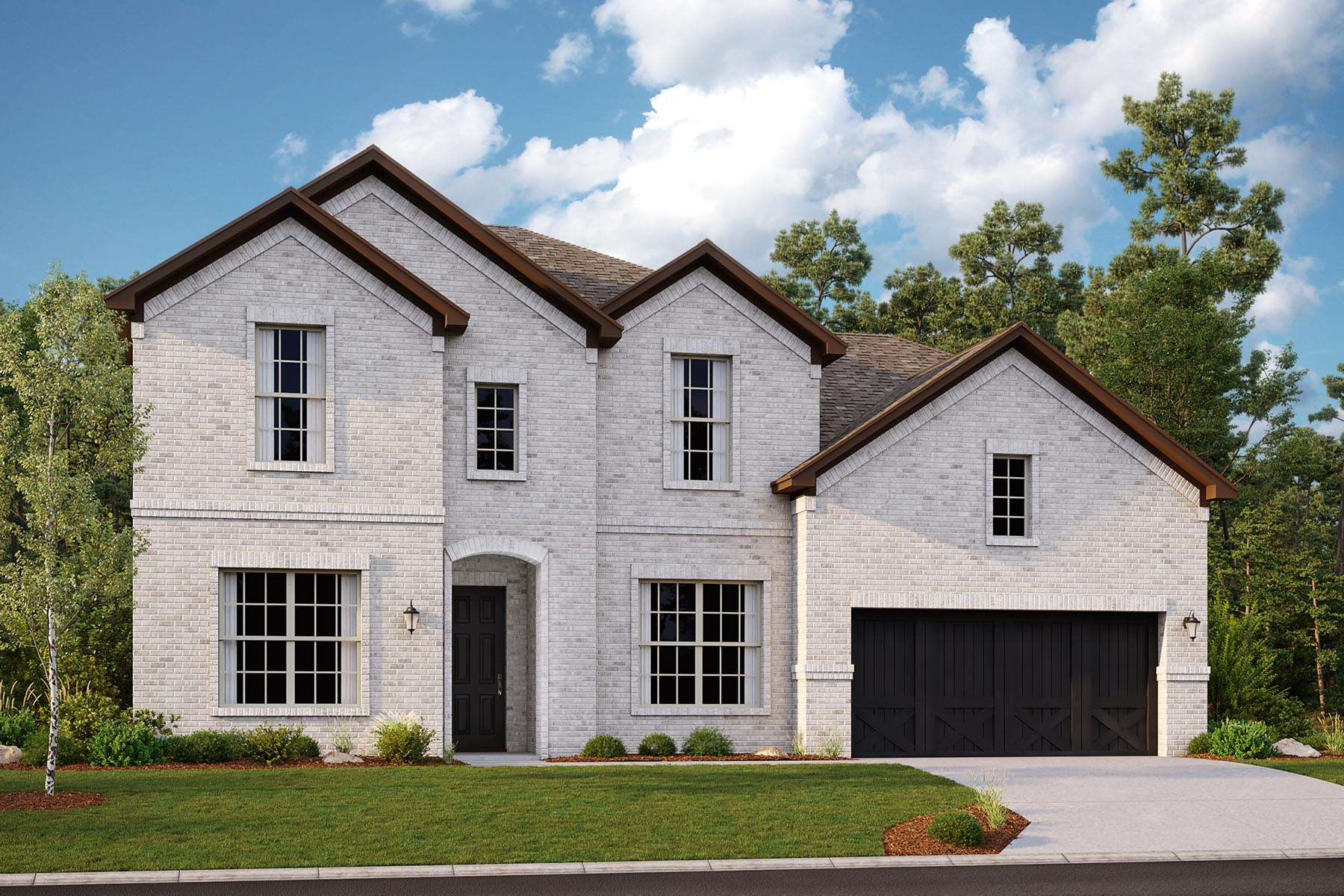 Alexander II Plan Elevation Front at Villages of Creekwood in Frisco Texas by Mattamy Homes