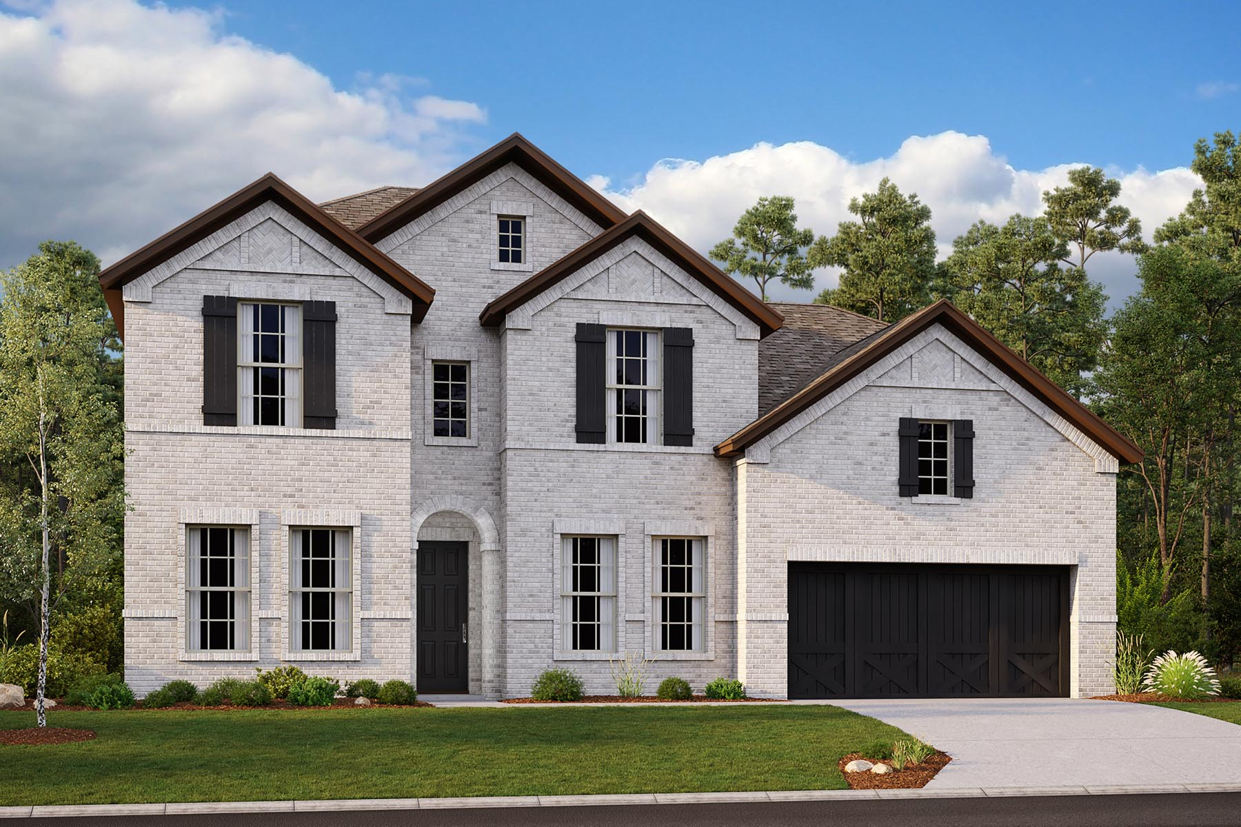 Alexander II Plan DAL_AlexanderII_B_ElevationExt_1800x1200 at Villages of Creekwood in Frisco Texas by Mattamy Homes