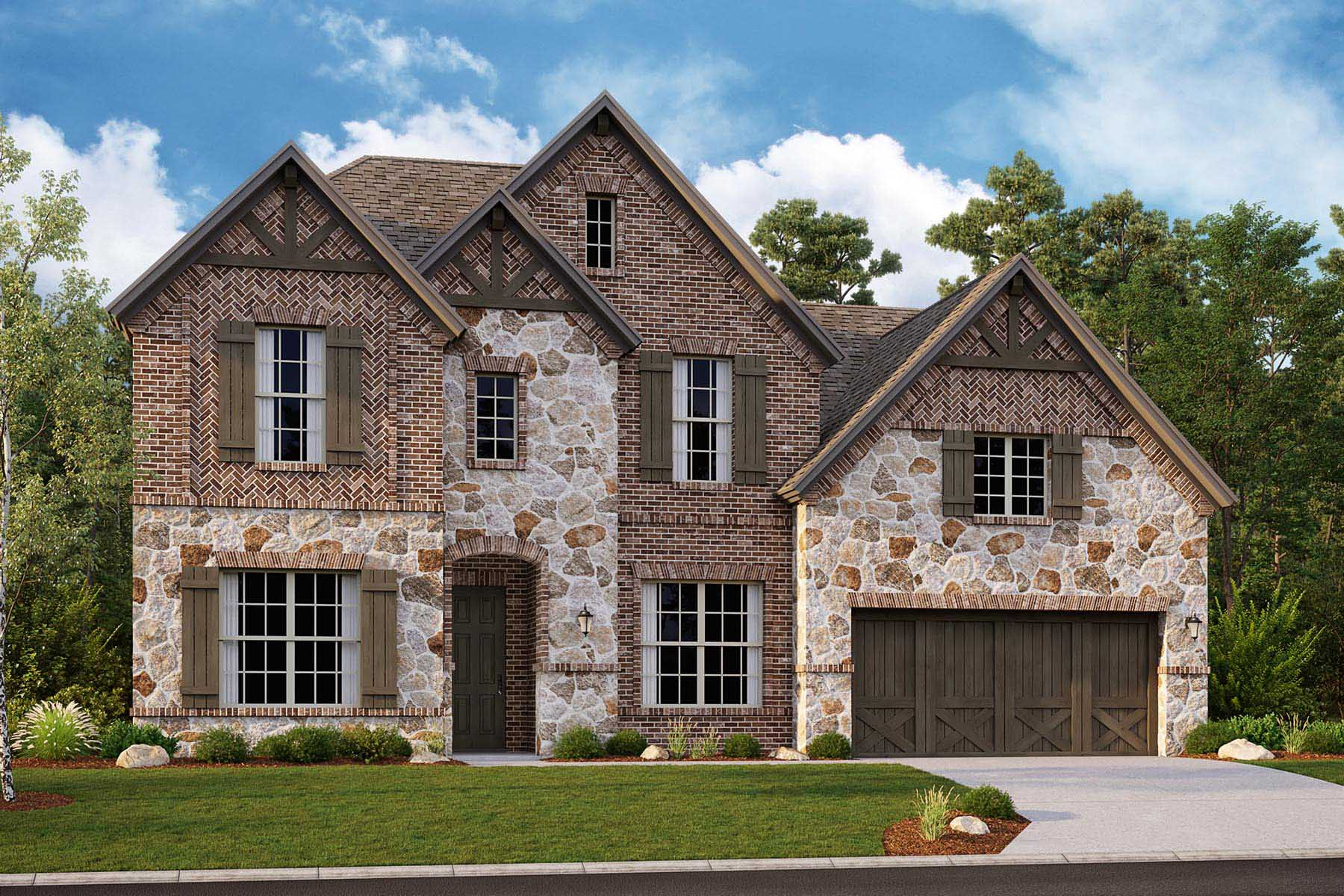 Alexander II Plan DAL_AlexanderII_D_ElevationExt_1800x1200 at Villages of Creekwood in Frisco Texas by Mattamy Homes
