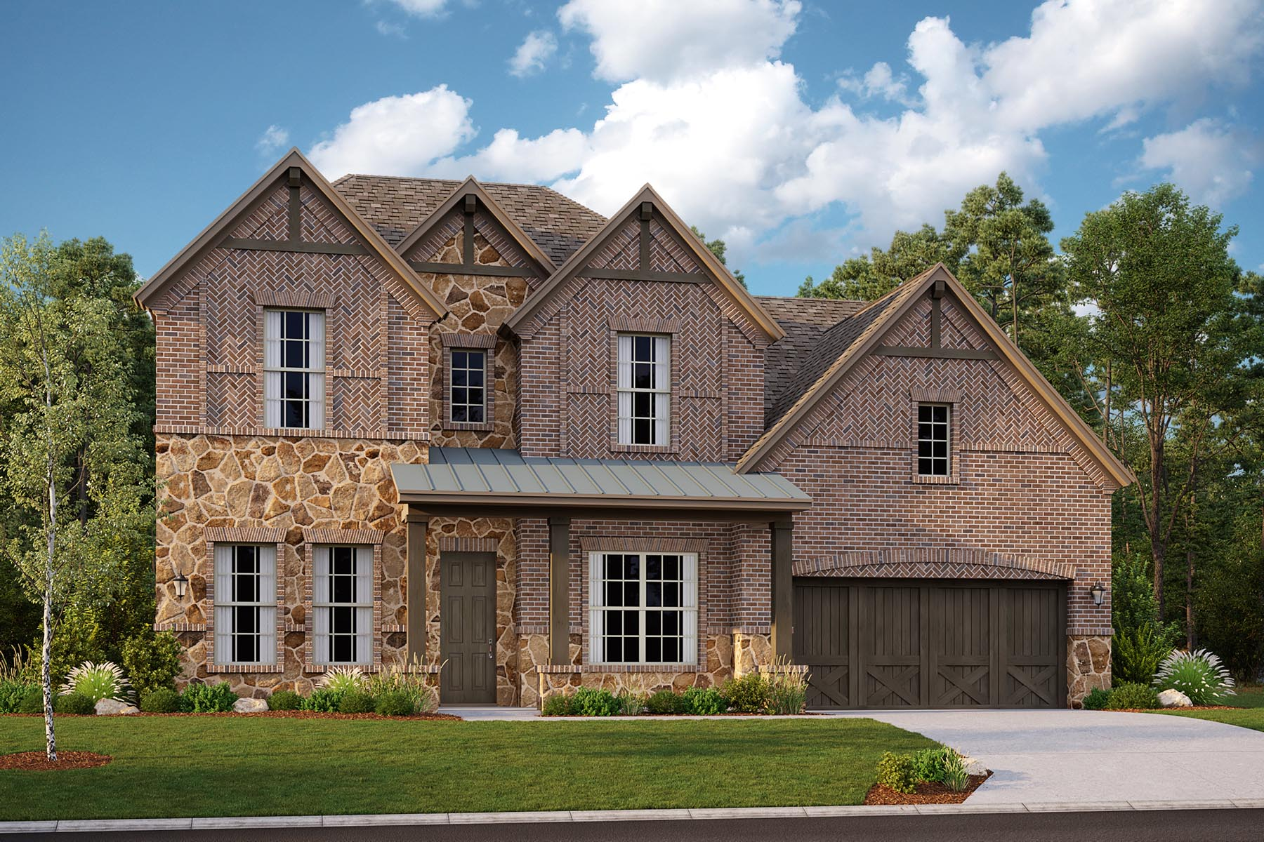 Alexander II Plan DAL_AlexanderII_G_ElevationExt_1800x1200 at Villages of Creekwood in Frisco Texas by Mattamy Homes