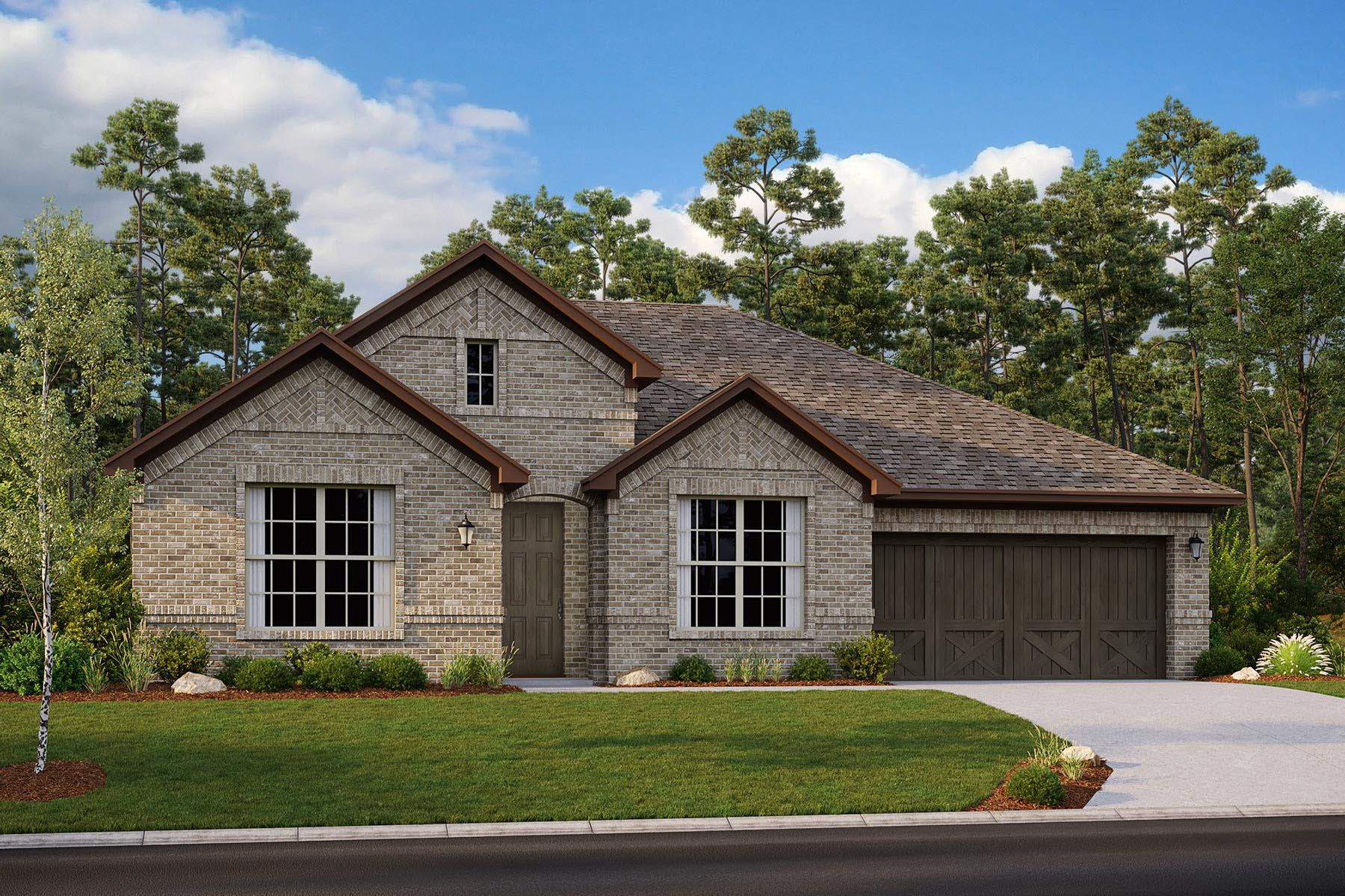 Avery II Plan Elevation Front at Villages of Creekwood in Frisco Texas by Mattamy Homes