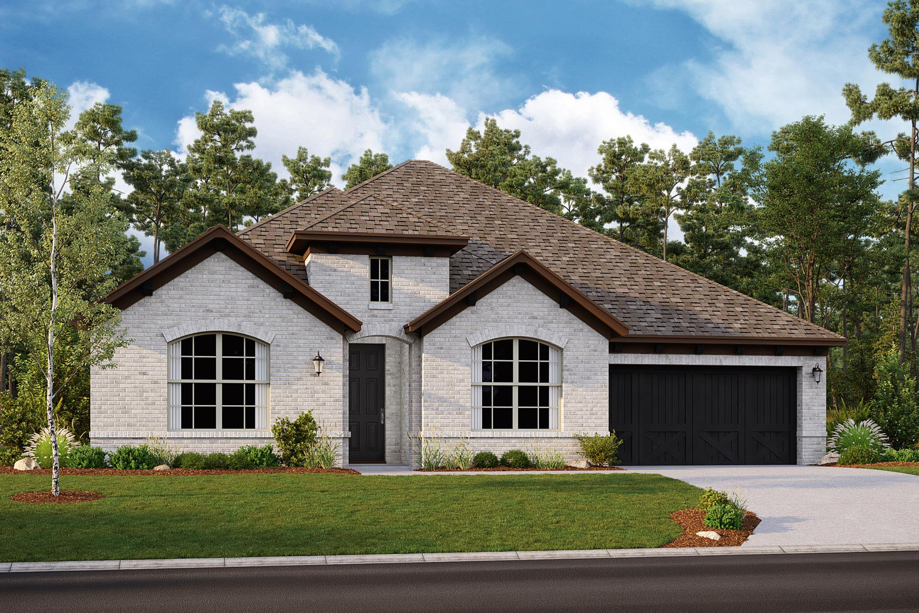 Avery II Plan DAL_Avery_ElevationC_1800x1200 at Villages of Creekwood in Frisco Texas by Mattamy Homes