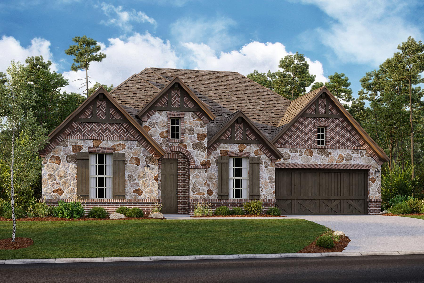 Avery II Plan DAL_Avery_ElevationD_1800x1200 at Villages of Creekwood in Frisco Texas by Mattamy Homes