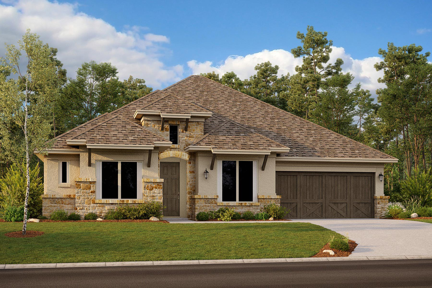 Avery II Plan DAL_Avery_ElevationF_1800x1200 at Villages of Creekwood in Frisco Texas by Mattamy Homes