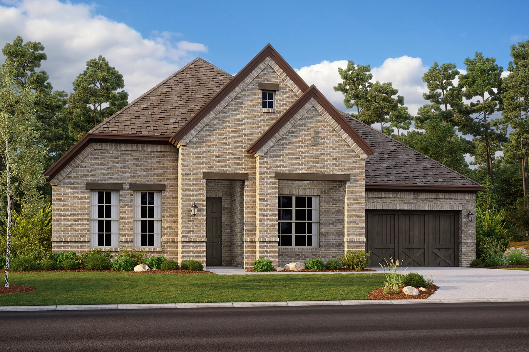 Avery II Plan DAL_Avery_ElevationH_1800x1200 at Villages of Creekwood in Frisco Texas by Mattamy Homes