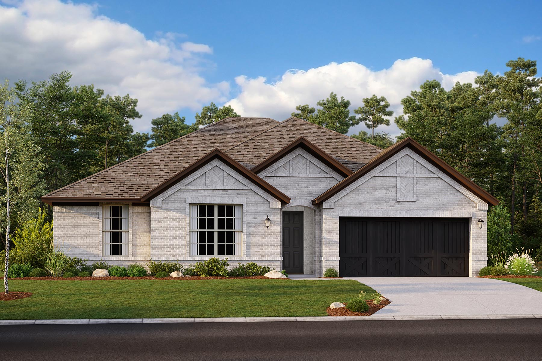 Bradford II Plan Elevation Front at Villages of Creekwood in Frisco Texas by Mattamy Homes