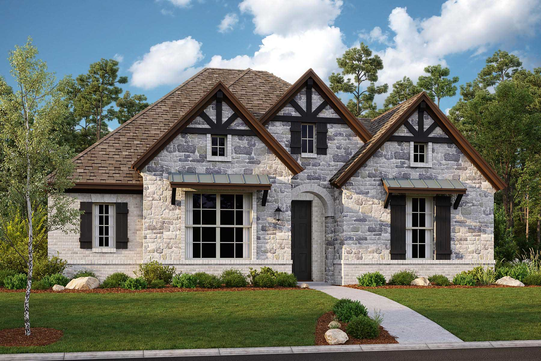 Brighton II Plan Elevation Front at Villages of Creekwood in Frisco Texas by Mattamy Homes