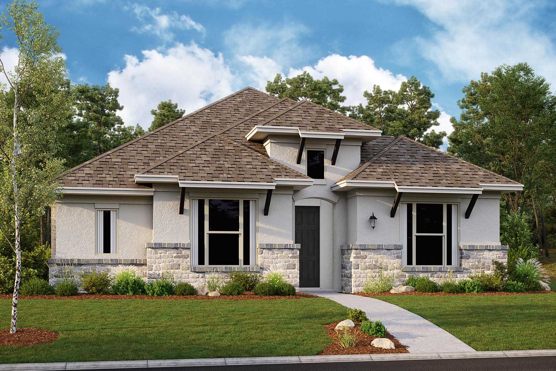 Brighton II Plan DAL_Brighton_C_ElevationExt_1800x1200 at Villages of Creekwood in Frisco Texas by Mattamy Homes