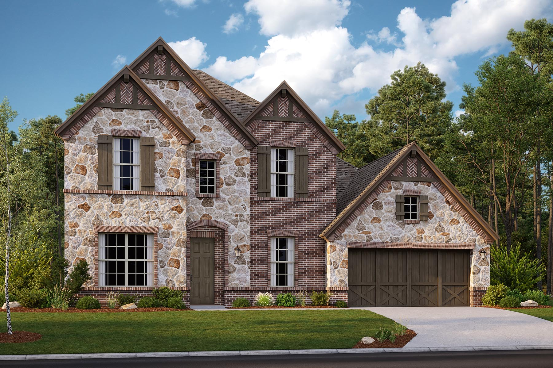 Chelsea II Plan DAL_Chelsea_D_ElevationExt_1800x1200 at Villages of Creekwood in Frisco Texas by Mattamy Homes