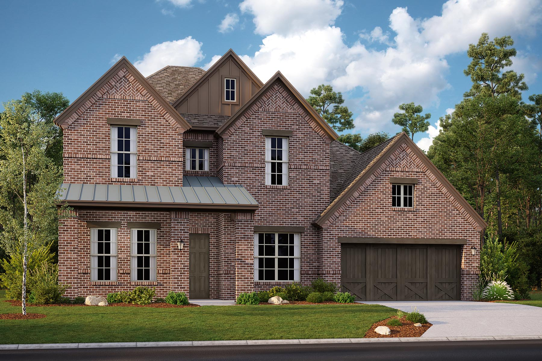 Chelsea II Plan Elevation Front at Villages of Creekwood in Frisco Texas by Mattamy Homes
