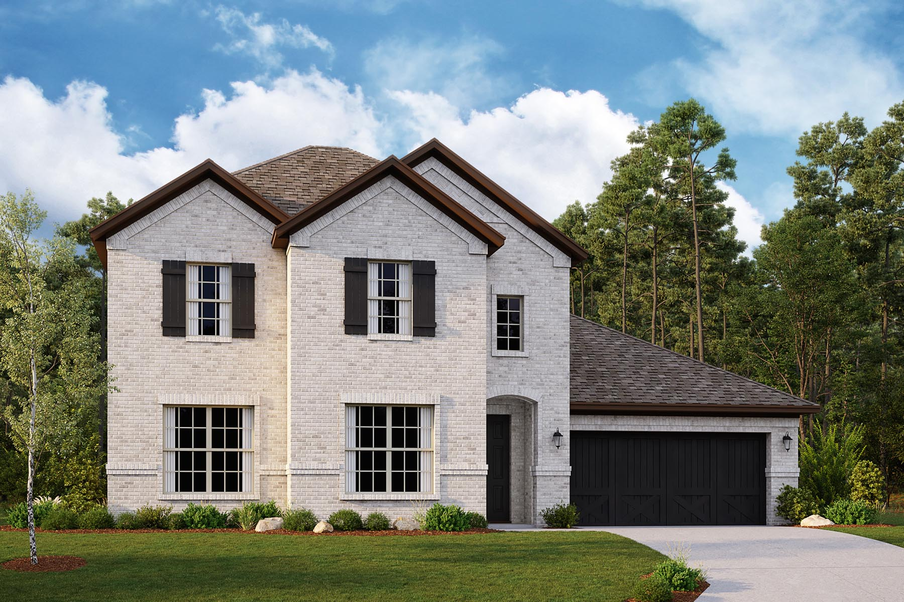 Drexel II Plan DAL_Drexel_B_ElevationExt_1800x1200 at Villages of Creekwood in Frisco Texas by Mattamy Homes