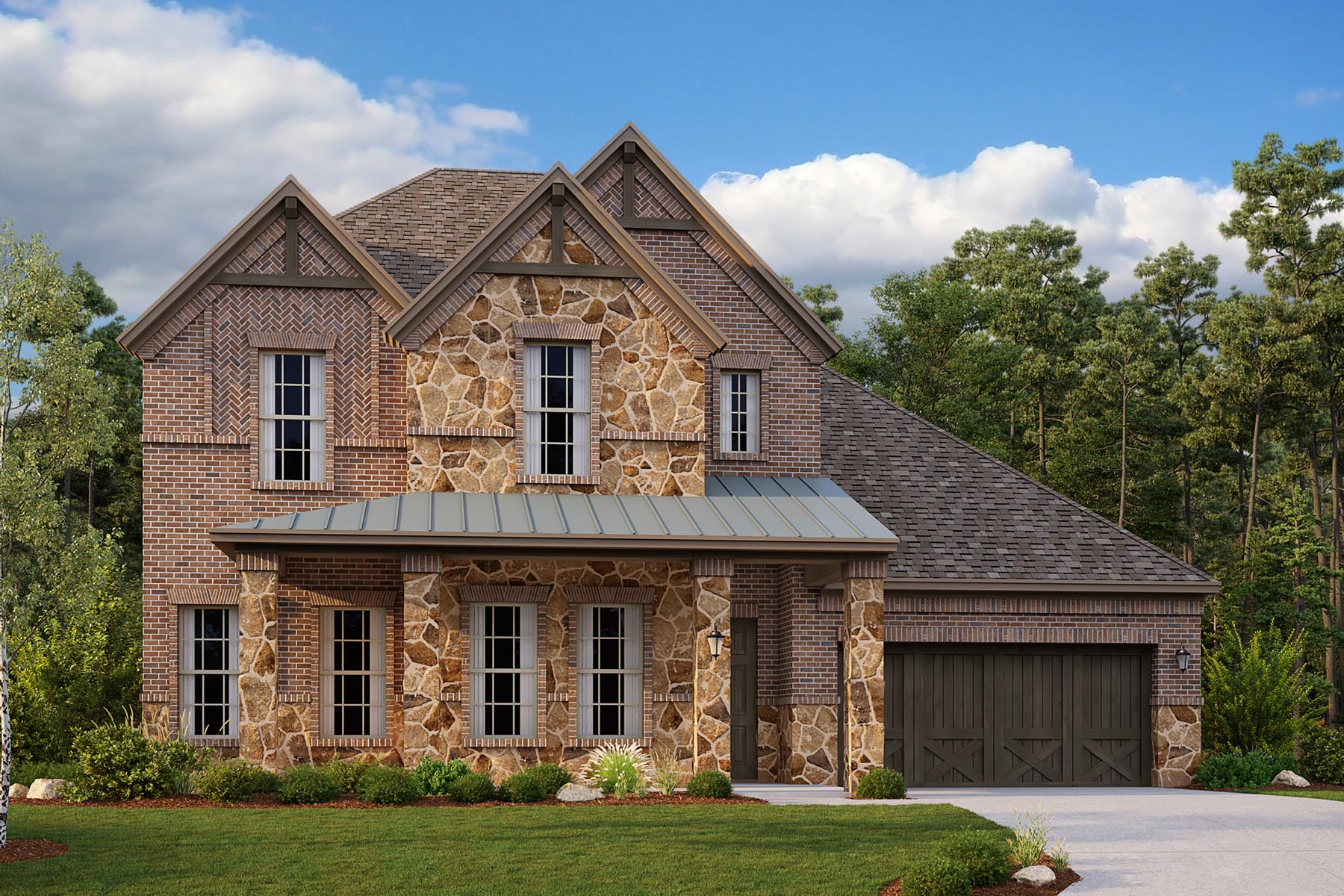 Drexel II Plan Elevation Front at Villages of Creekwood in Frisco Texas by Mattamy Homes