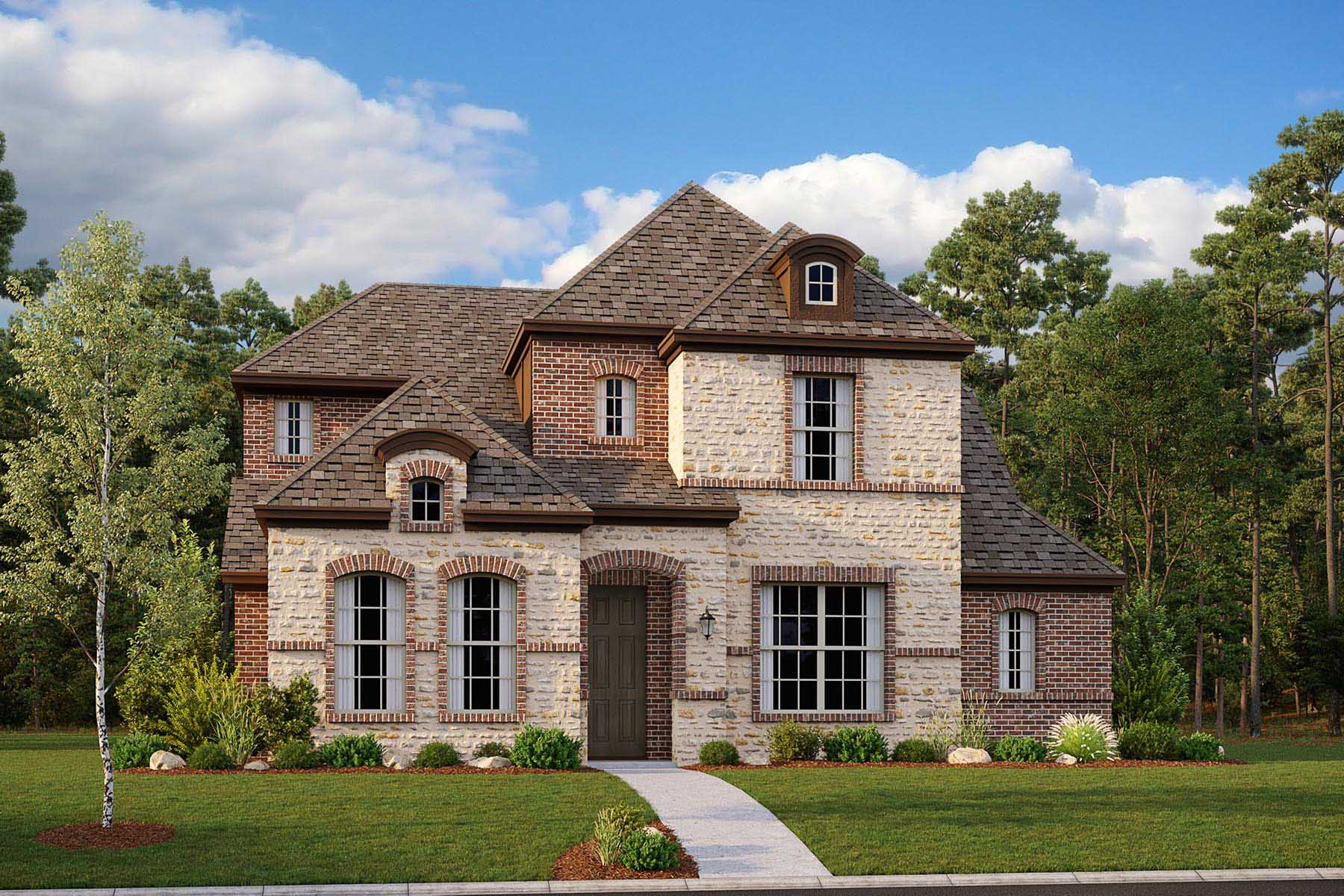 Hendley II Plan DAL_HendleyII_A_ElevationExt_1800x1200 at Villages of Creekwood in Frisco Texas by Mattamy Homes