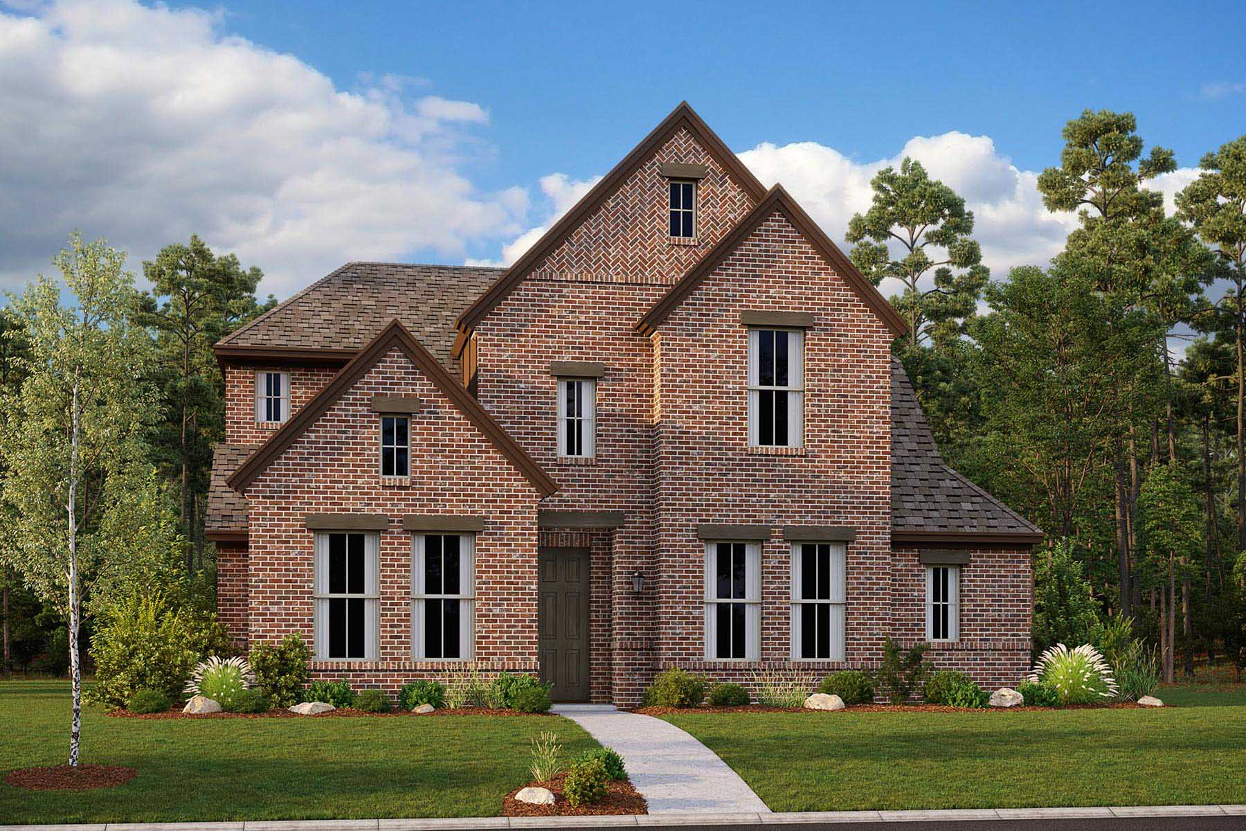 Hendley II Plan Elevation Front at Villages of Creekwood in Frisco Texas by Mattamy Homes
