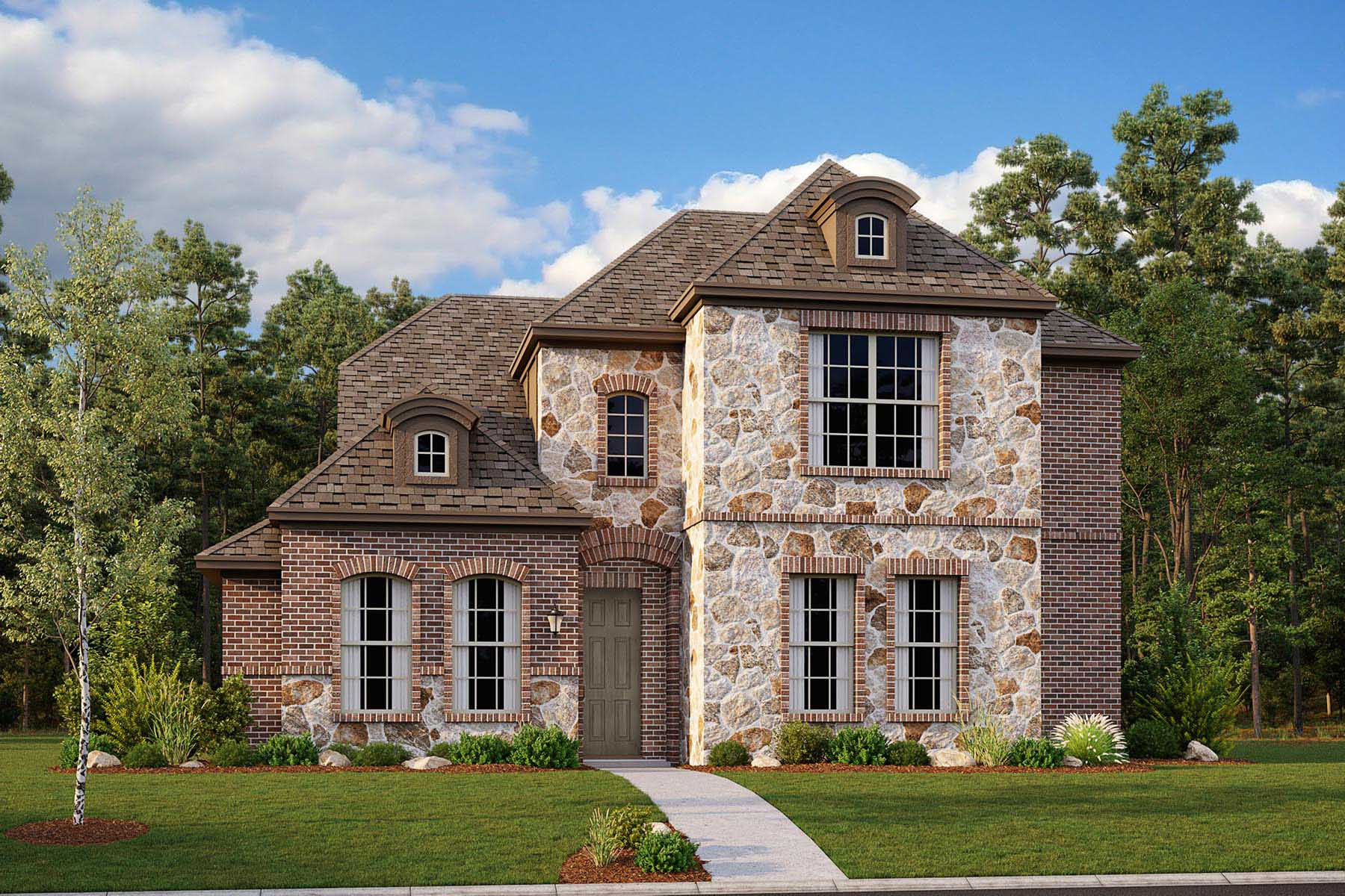 Oakhurst II Plan DAL_Oakhurst_A_ElevationExt_1800x1200 at Villages of Creekwood in Frisco Texas by Mattamy Homes