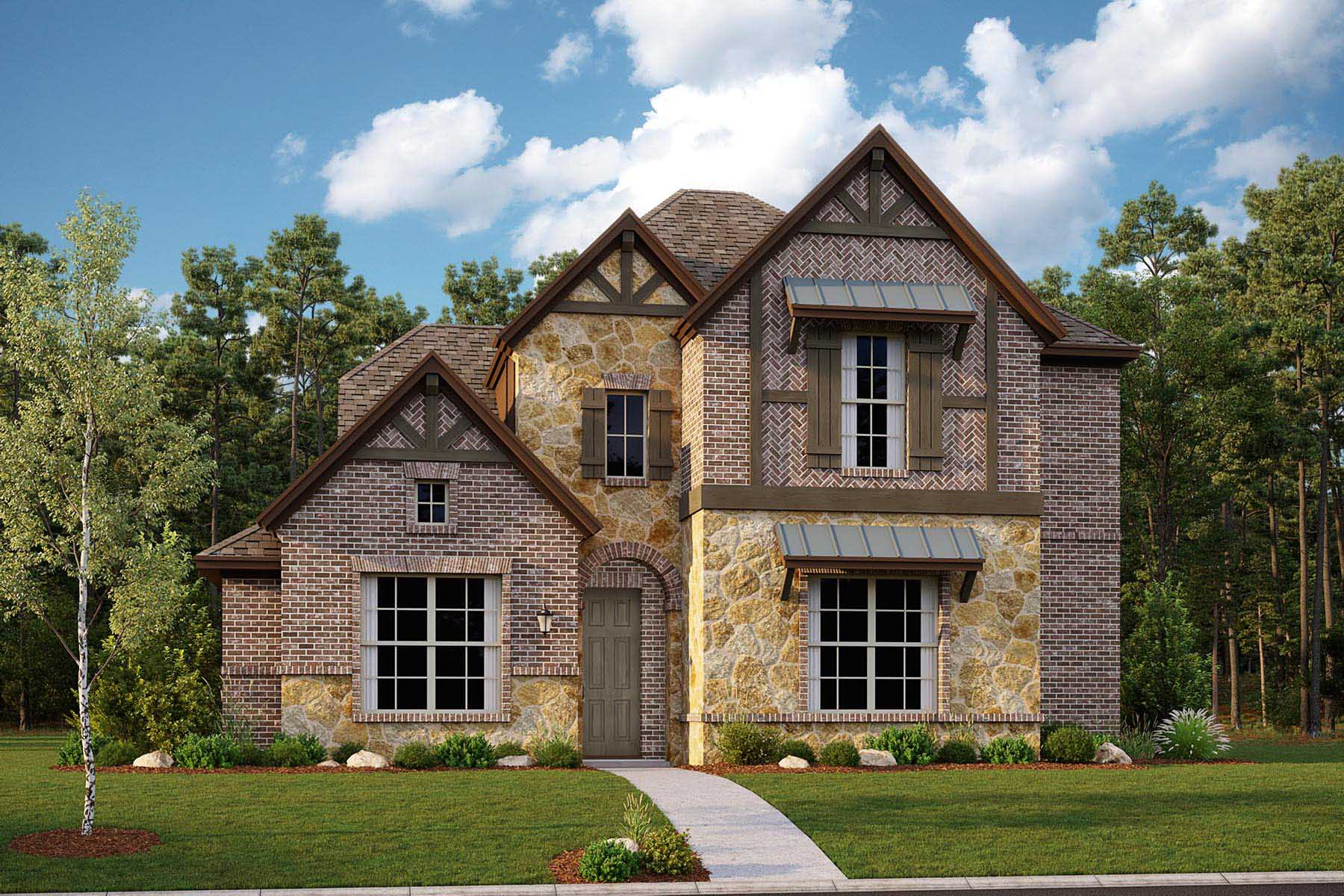 Oakhurst II Plan DAL_Oakhurst_B_ElevationExt_1800x1200 at Villages of Creekwood in Frisco Texas by Mattamy Homes