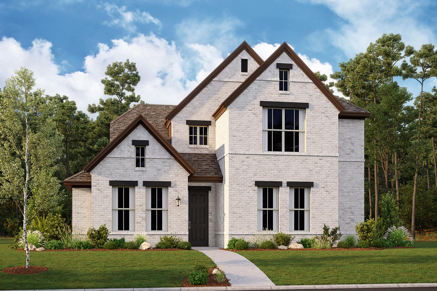 Oakhurst II Plan Elevation Front at Villages of Creekwood in Frisco Texas by Mattamy Homes
