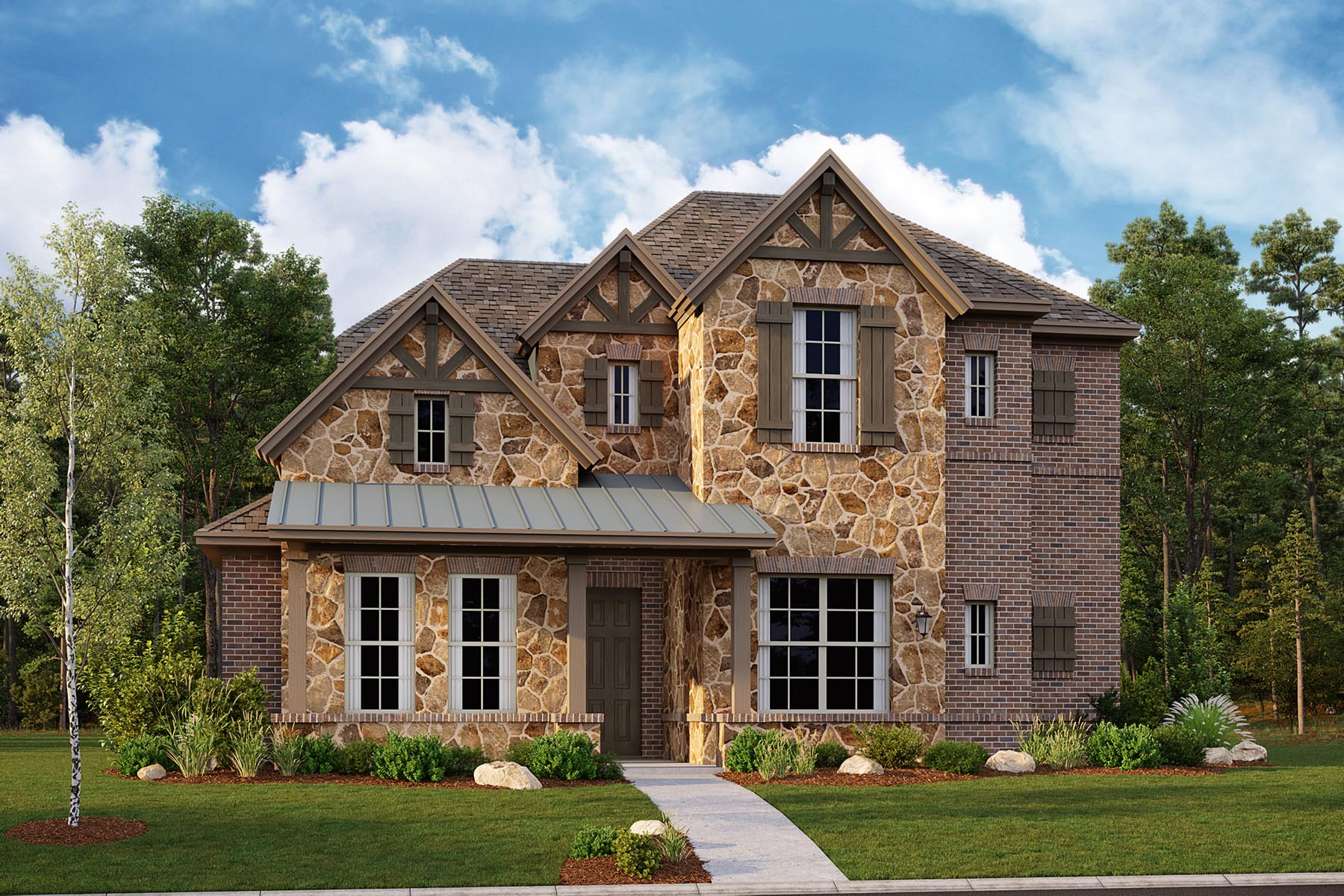 Oakhurst II Plan DAL_OakhurstII_E_ElevationExt_1800x1200 at Villages of Creekwood in Frisco Texas by Mattamy Homes