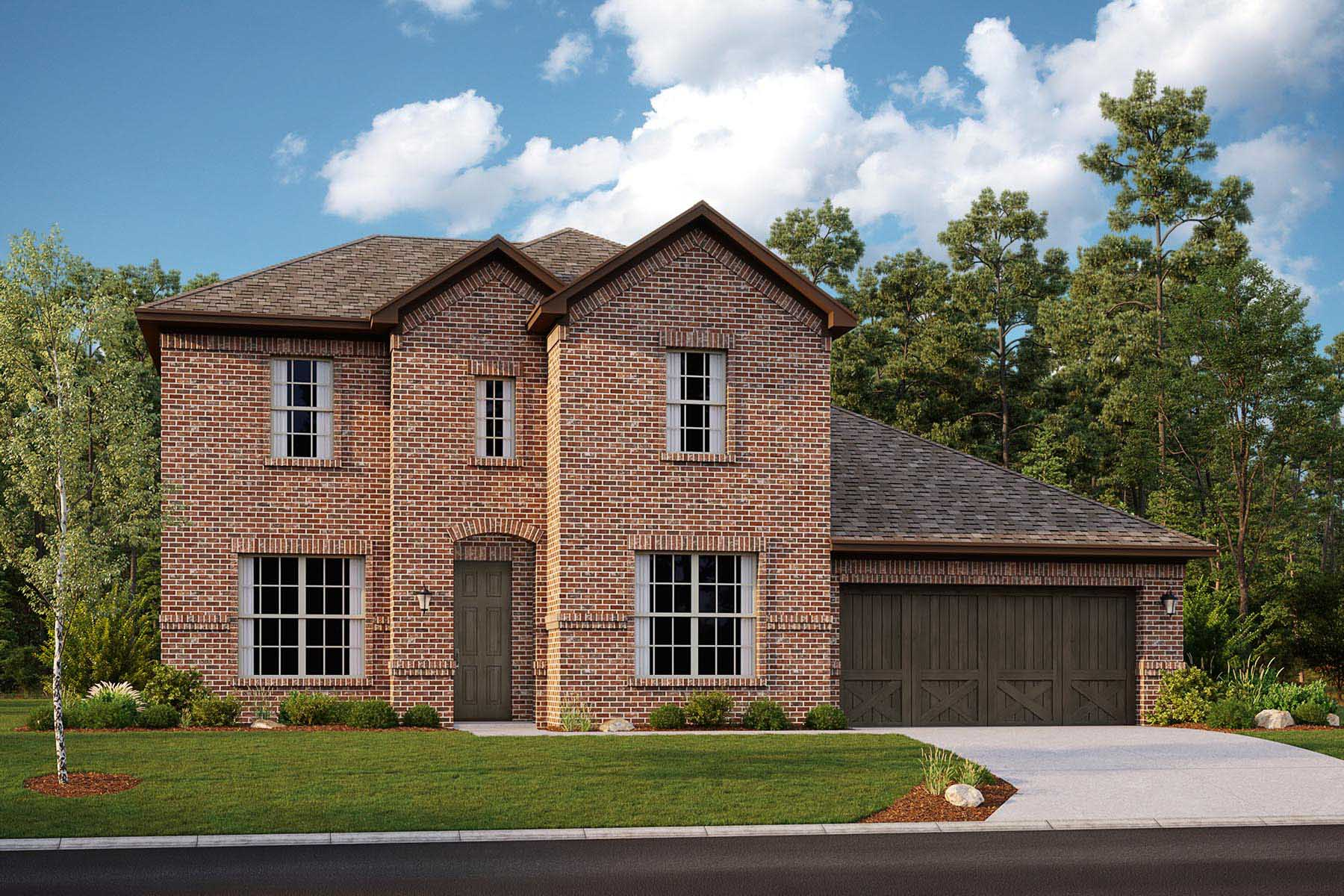 Shelby II Plan Elevation Front at Villages of Creekwood in Frisco Texas by Mattamy Homes