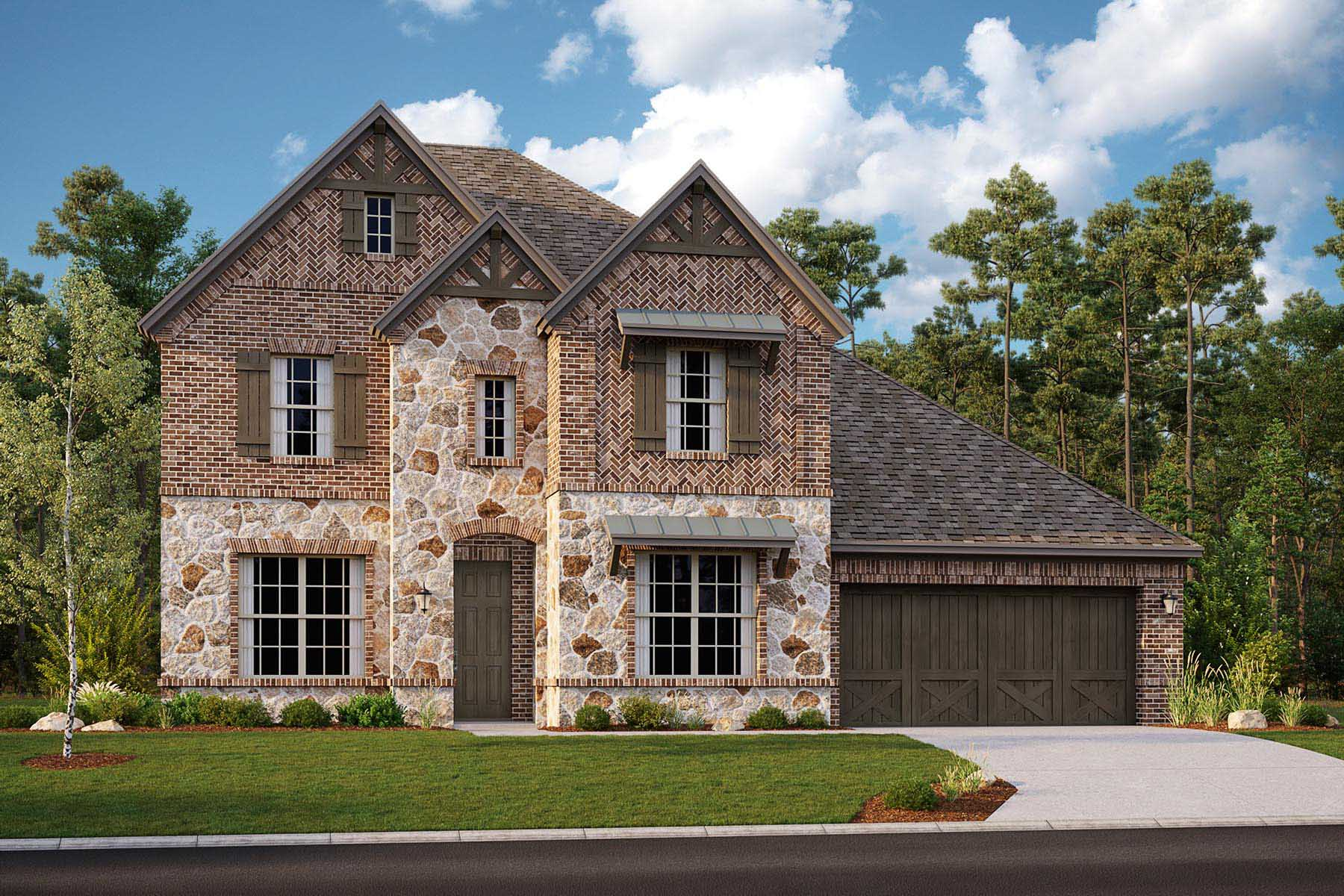 Shelby II Plan DAL_Shelby_D_ElevationExt_1800x1200 at Villages of Creekwood in Frisco Texas by Mattamy Homes
