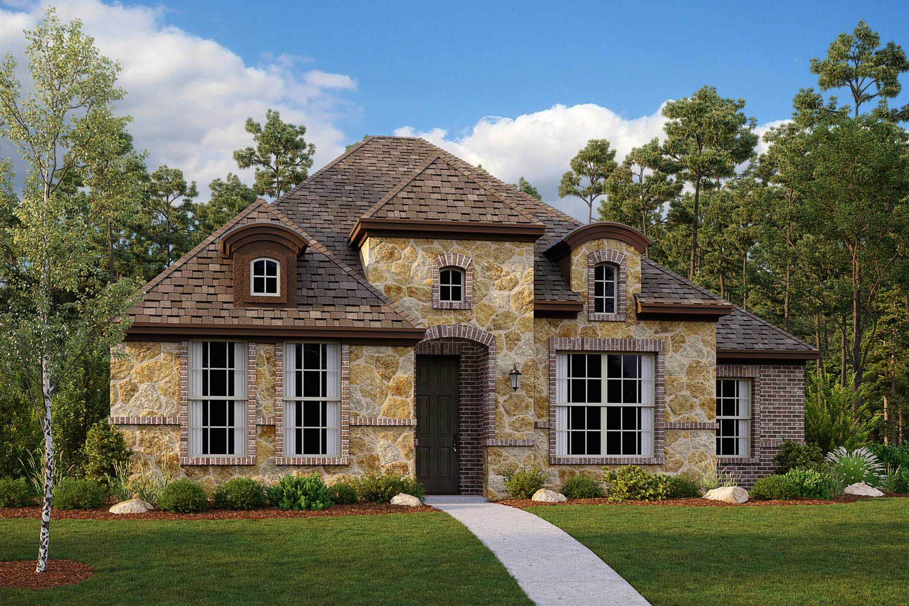 Winslow II Plan DAL_Winslow_ElevationA_1800x1200 at Villages of Creekwood in Frisco Texas by Mattamy Homes