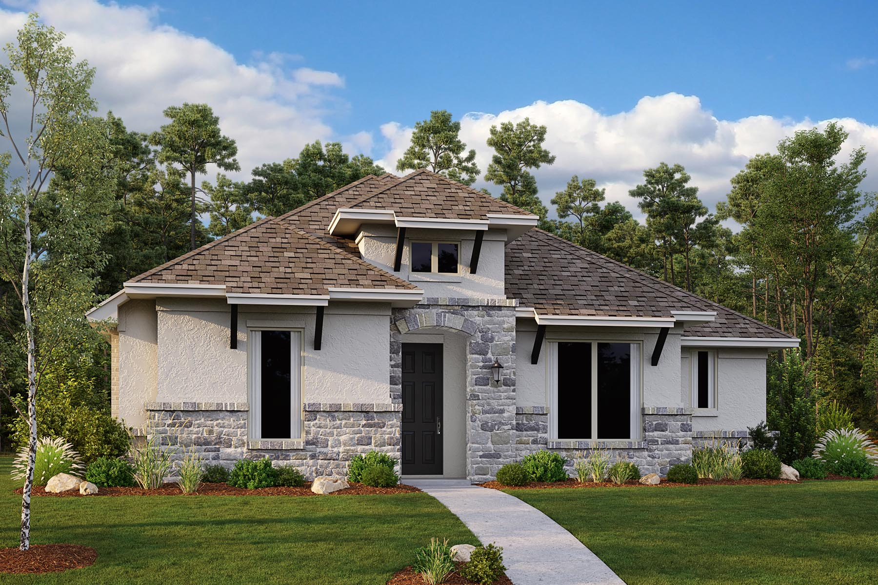 Winslow II Plan DAL_Winslow_ElevationC_1800x1200 at Villages of Creekwood in Frisco Texas by Mattamy Homes