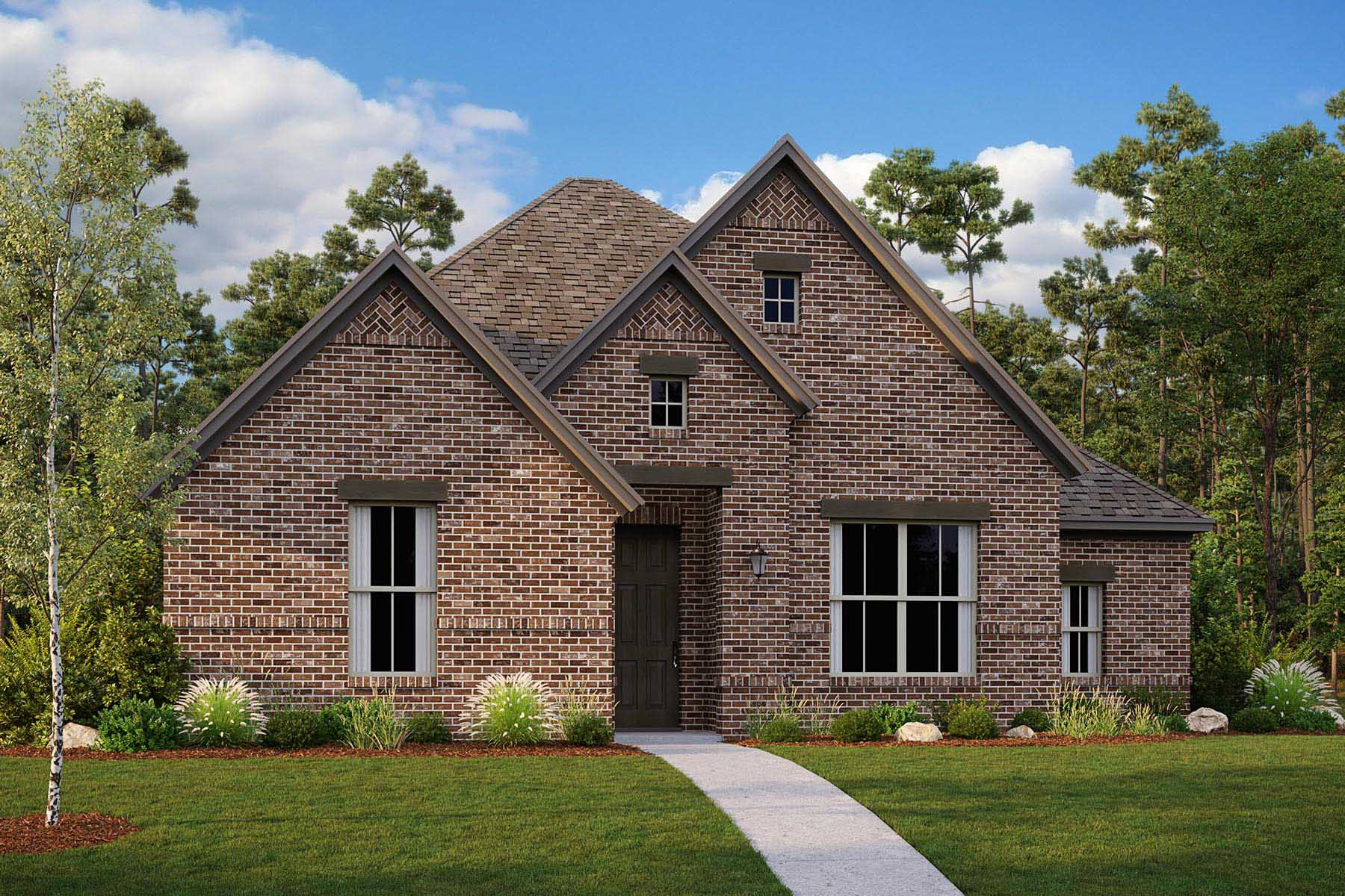 Winslow II Plan Elevation Front at Villages of Creekwood in Frisco Texas by Mattamy Homes