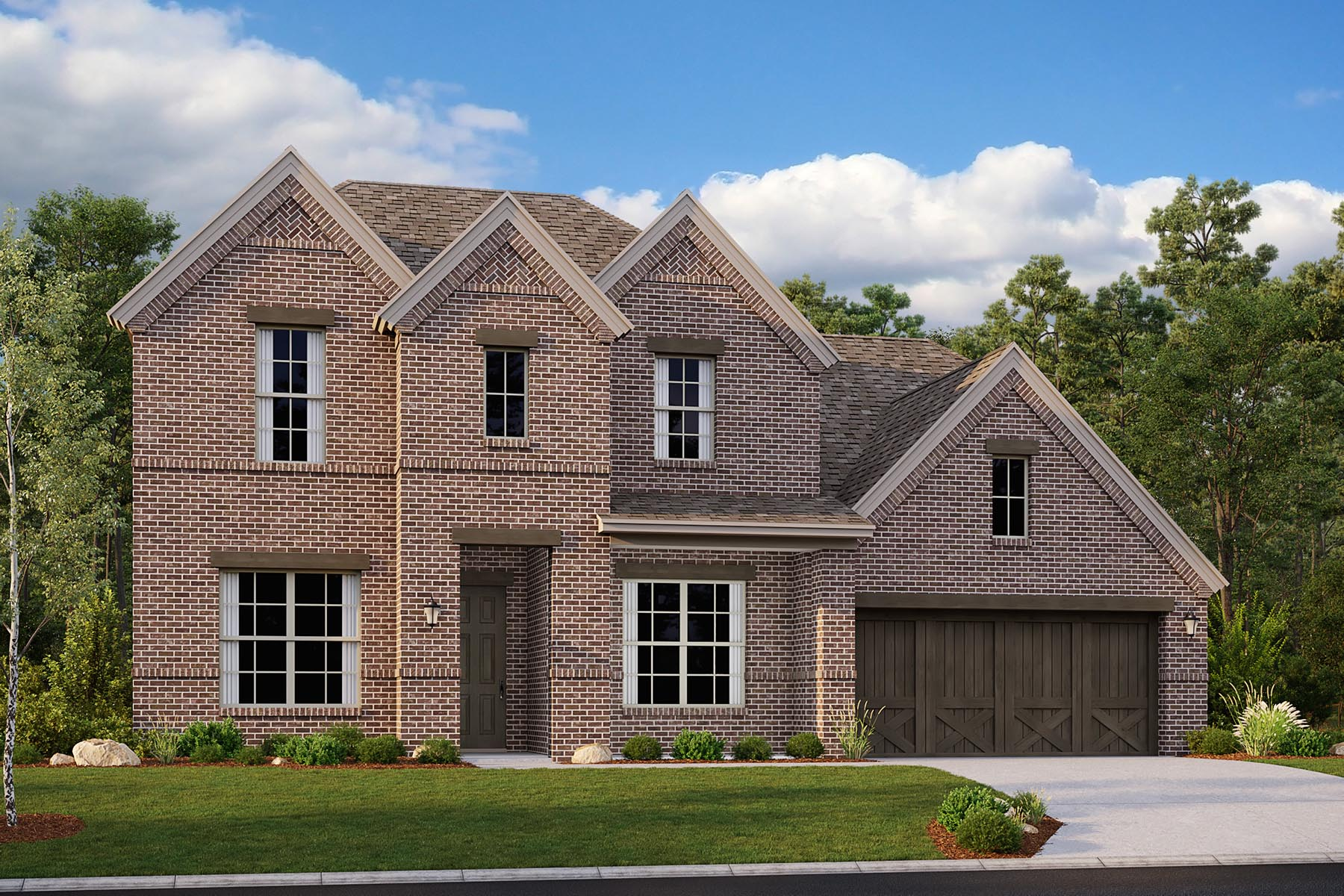 Alexander II Plan Elevation Front at Villages of Hurricane Creek in Anna Texas by Mattamy Homes