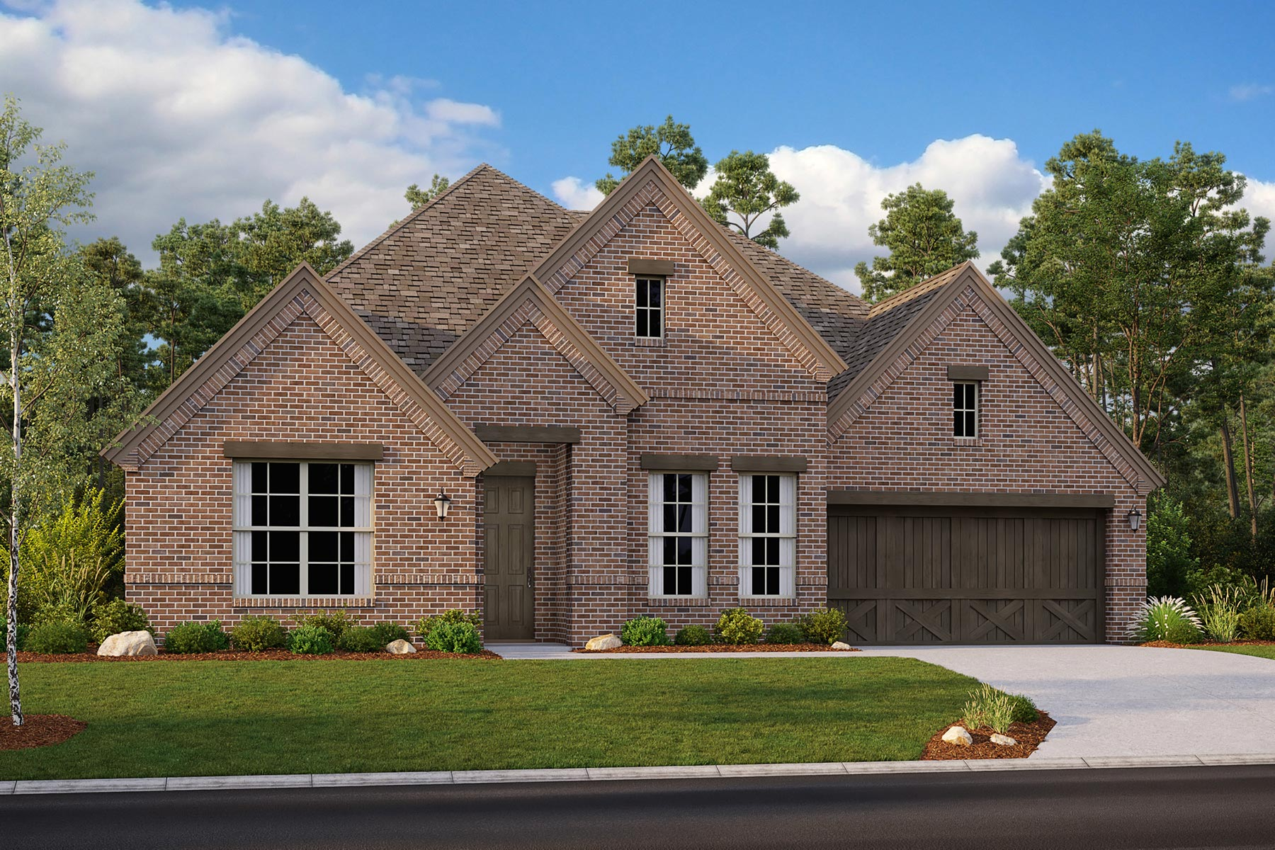 Avery II Plan Elevation Front at Villages of Hurricane Creek in Anna Texas by Mattamy Homes