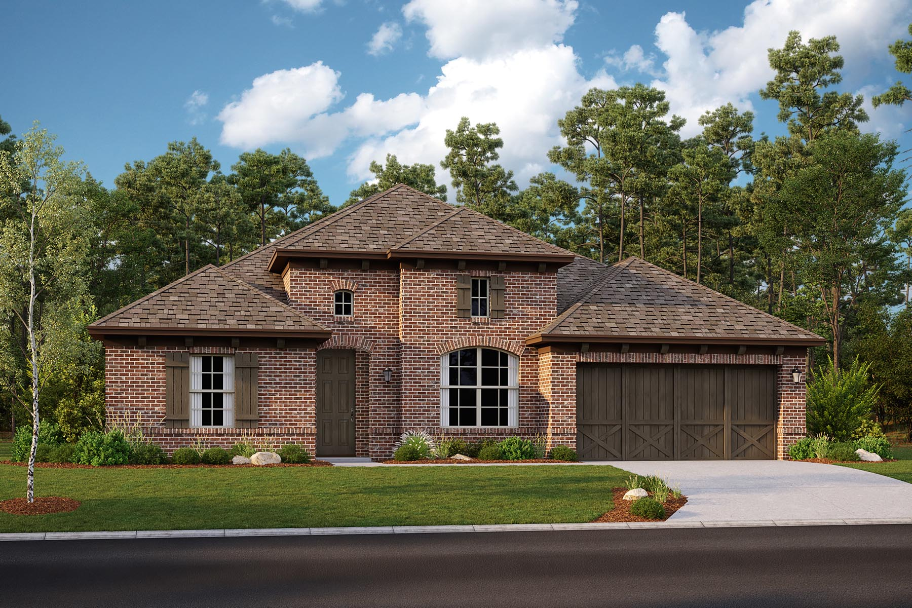 Barrett II Plan Elevation Front at Villages of Hurricane Creek in Anna Texas by Mattamy Homes