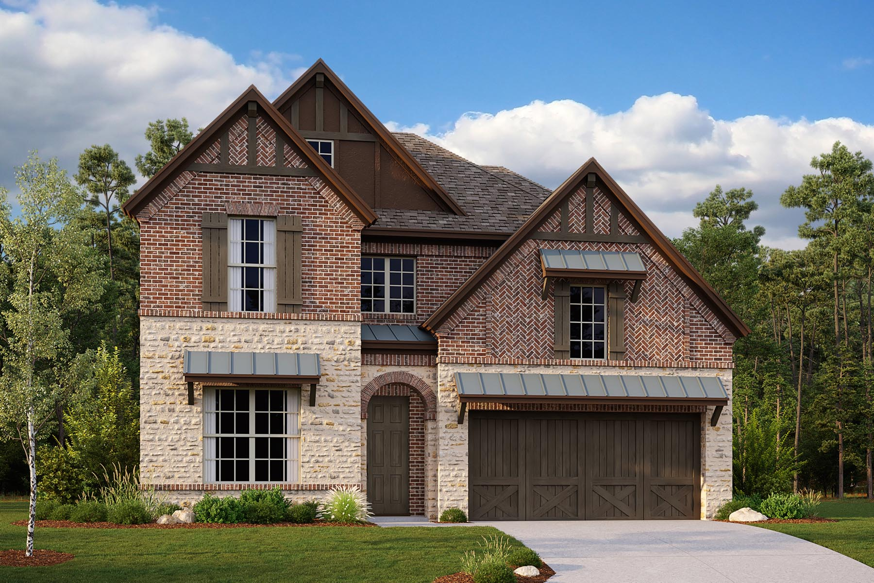 Dakota II Plan Elevation Front at Villages of Creekwood in Frisco Texas by Mattamy Homes
