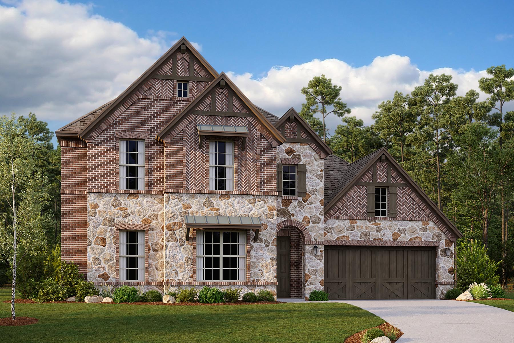 Drexel II Plan Elevation Front at Villages of Hurricane Creek in Anna Texas by Mattamy Homes