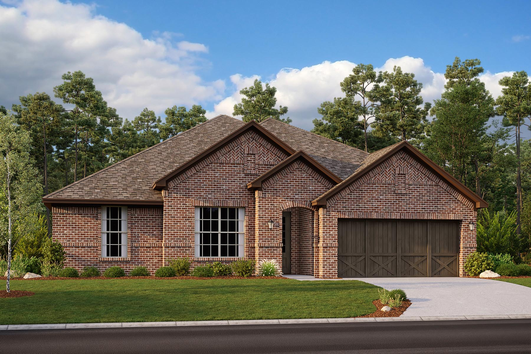 Rockport II Plan Elevation Front at Villages of Hurricane Creek in Anna Texas by Mattamy Homes