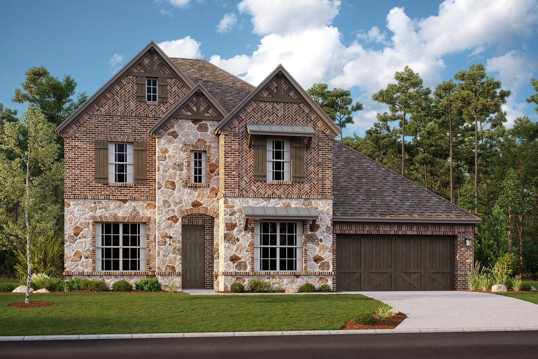 Shelby II Plan DAL_Shelby_D_ElevationExt_1800x1200 at Villages of Hurricane Creek in Anna Texas by Mattamy Homes
