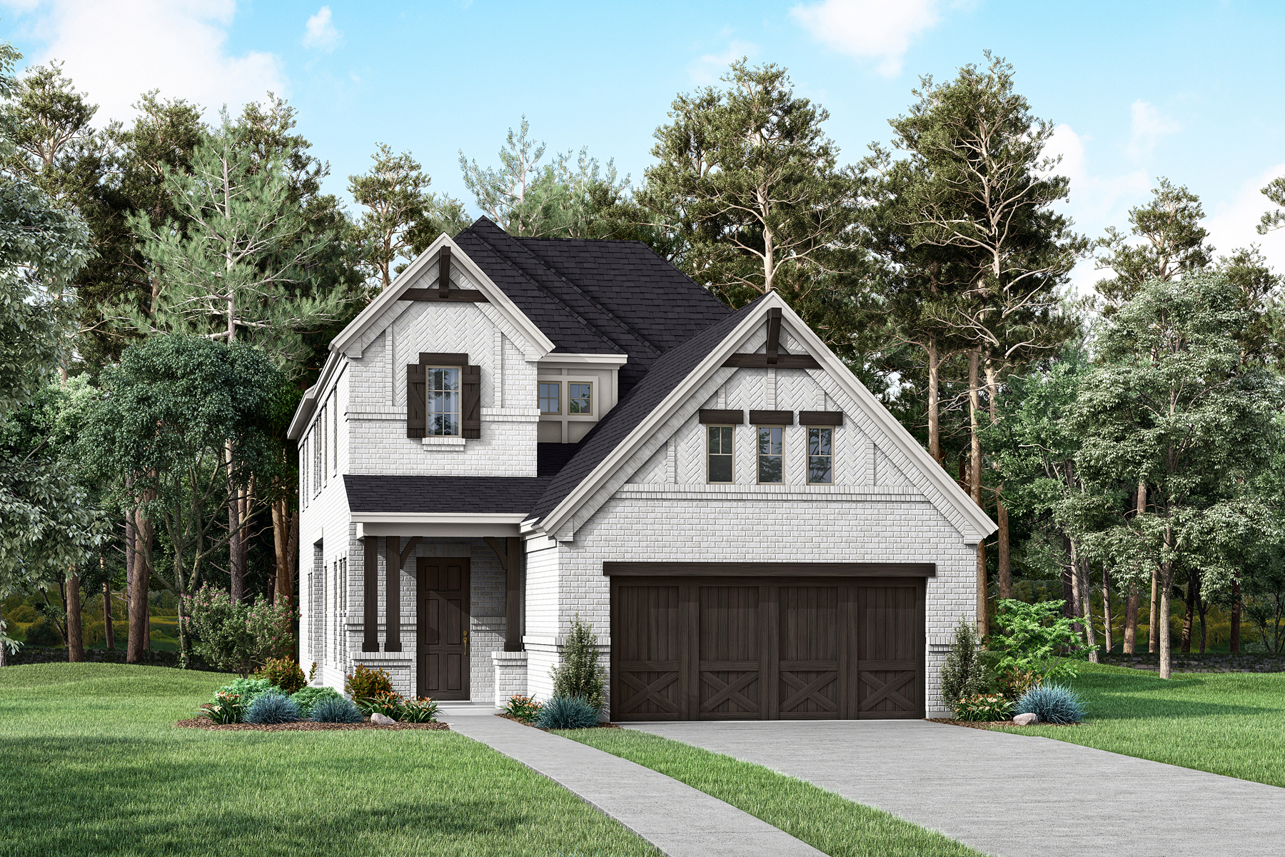 Abbot Plan Elevation Front at Prairie Commons in Plano Texas by Mattamy Homes