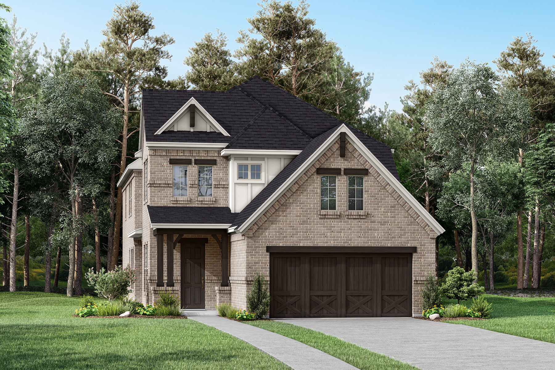 Bartlet Plan Elevation Front at Prairie Commons in Plano Texas by Mattamy Homes