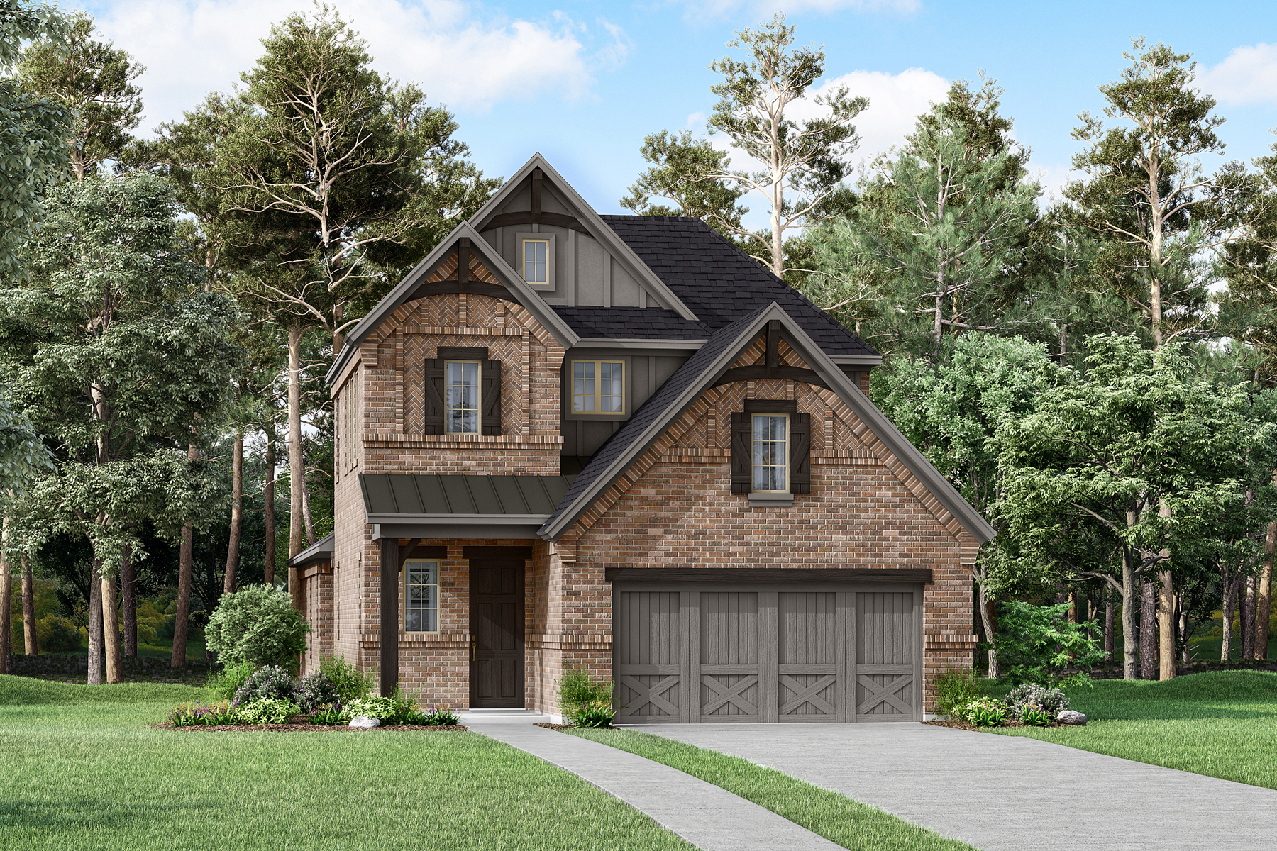 Huntington Plan Elevation Front at Prairie Commons in Plano Texas by Mattamy Homes