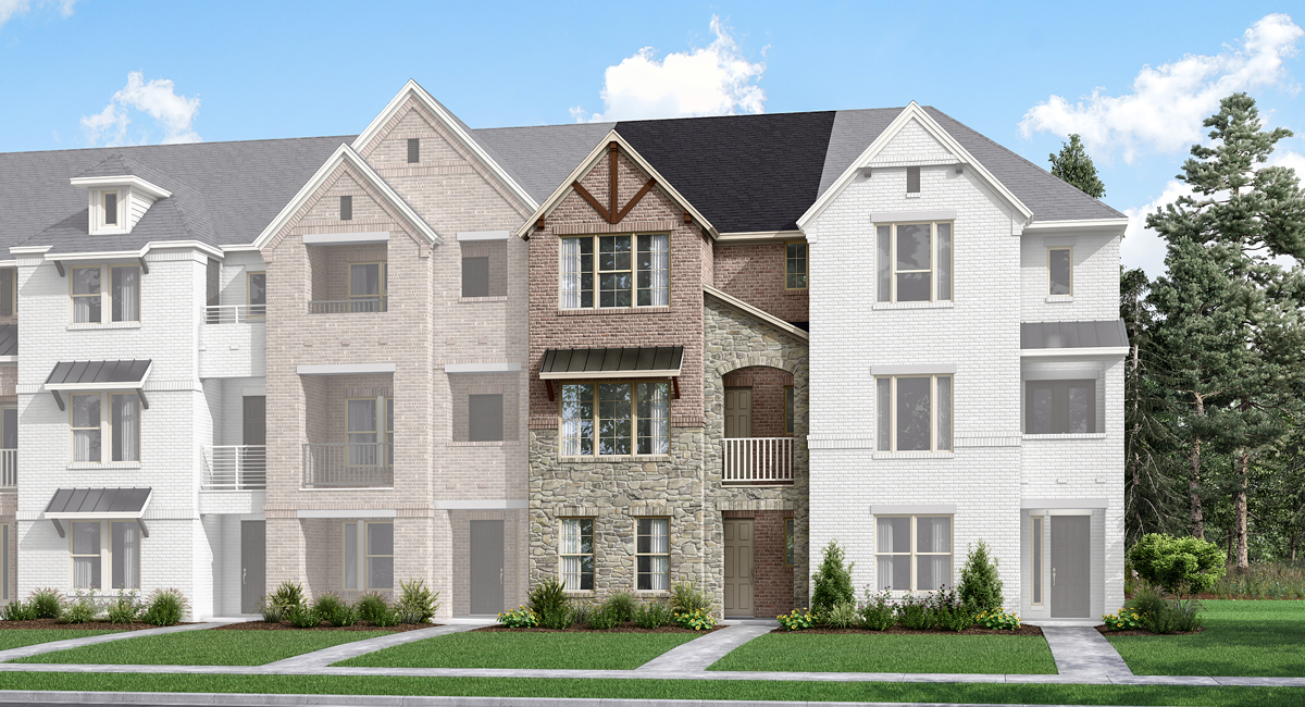 Belgrove Plan TownHomes at Windhaven Crossing in Lewisville Texas by Mattamy Homes