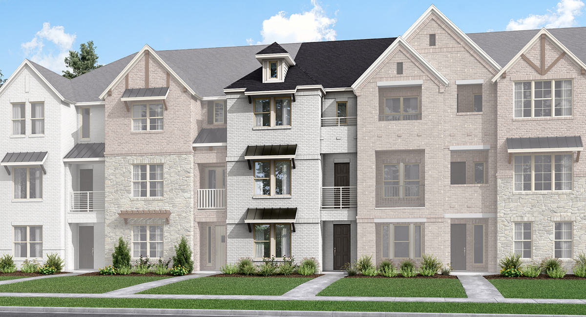 Imperial Plan TownHomes at Wade Settlement Townhomes in Frisco Texas by Mattamy Homes