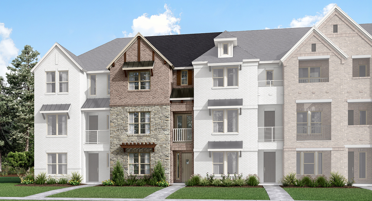 Jamestown Plan TownHomes at Windhaven Crossing in Lewisville Texas by Mattamy Homes