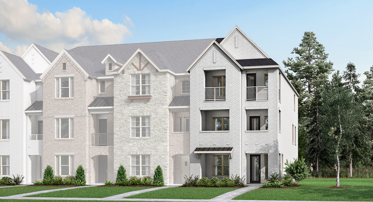 Kingland Plan TownHomes at Wade Settlement Townhomes in Frisco Texas by Mattamy Homes