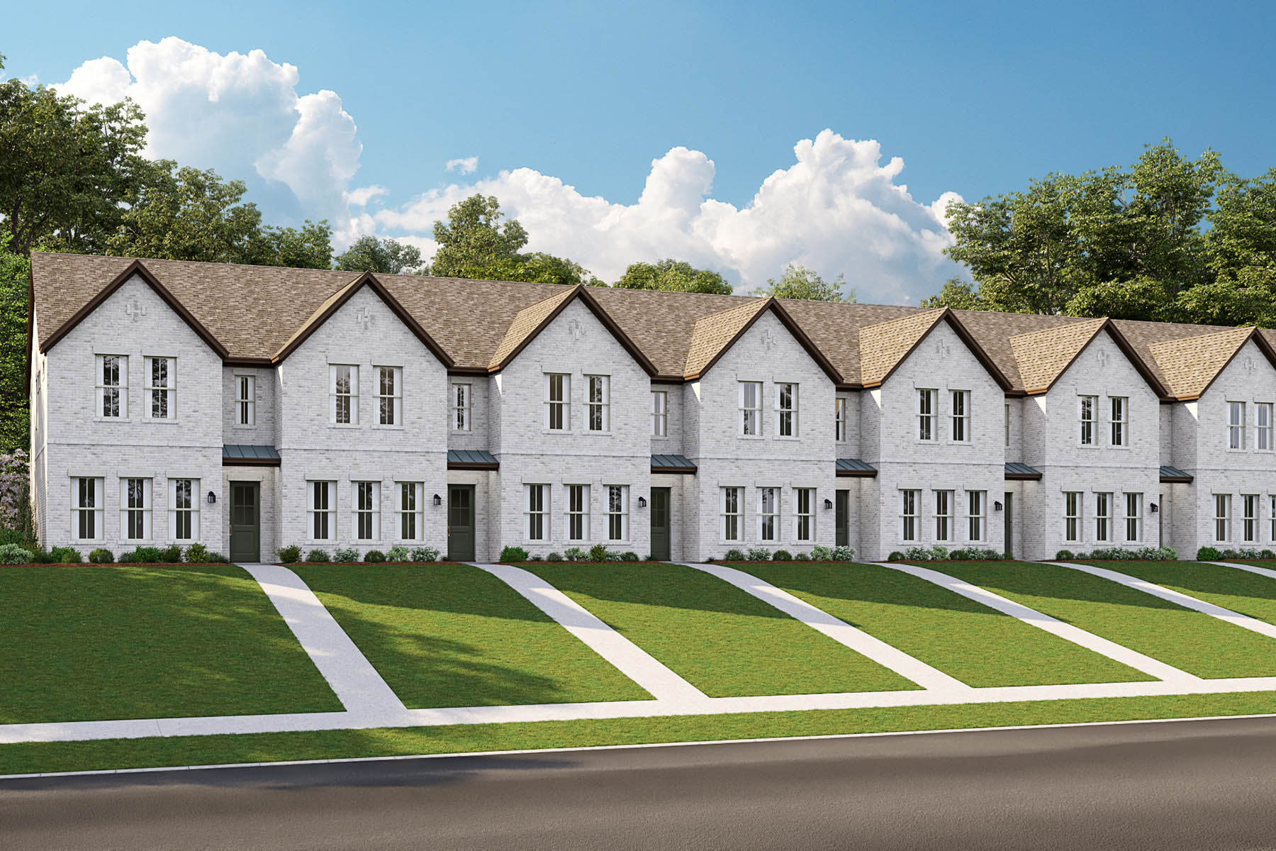 La Rosa Plan TownHomes at Windhaven Crossing in Lewisville Texas by Mattamy Homes