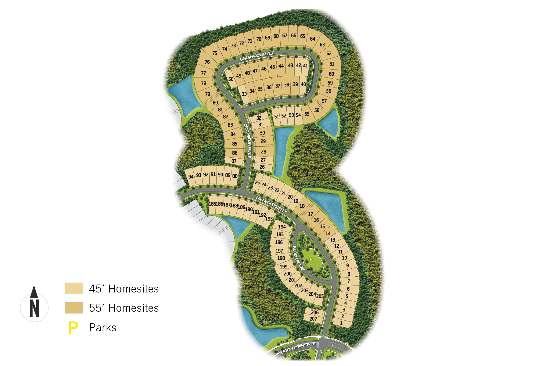 RiverTown - Arbors Lot Map in St. Johns Florida by Mattamy Homes