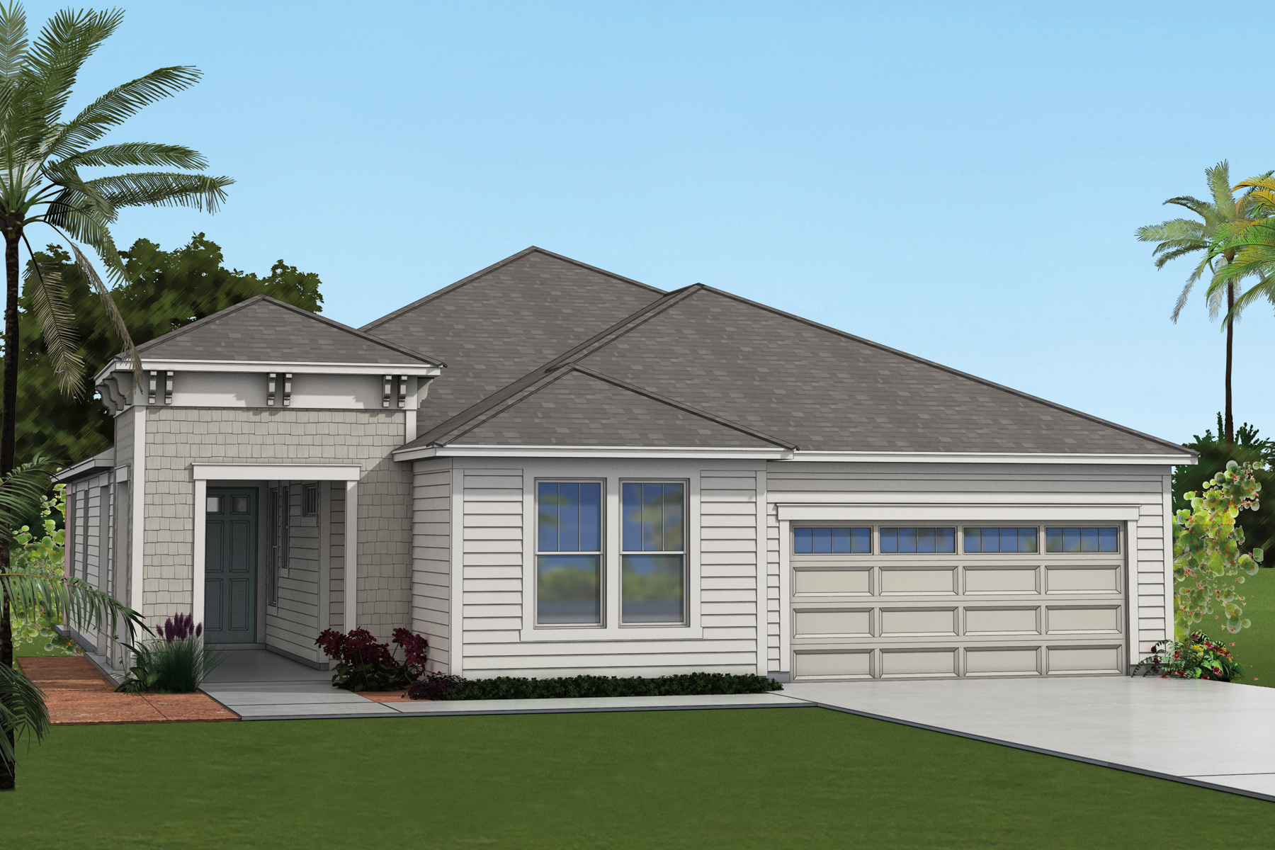 Beauclair Plan Elevation Front at RiverTown - Arbors in St. Johns Florida by Mattamy Homes