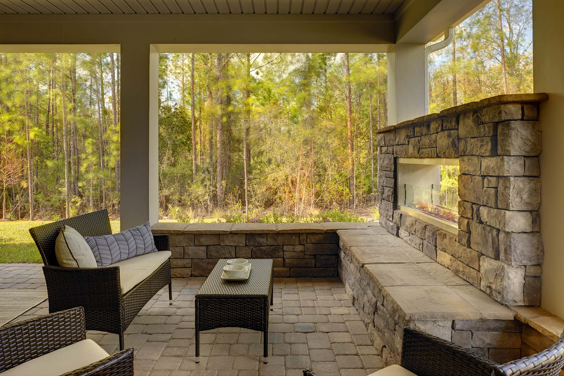 Egret Plan Patio at RiverTown - Arbors in St. Johns Florida by Mattamy Homes