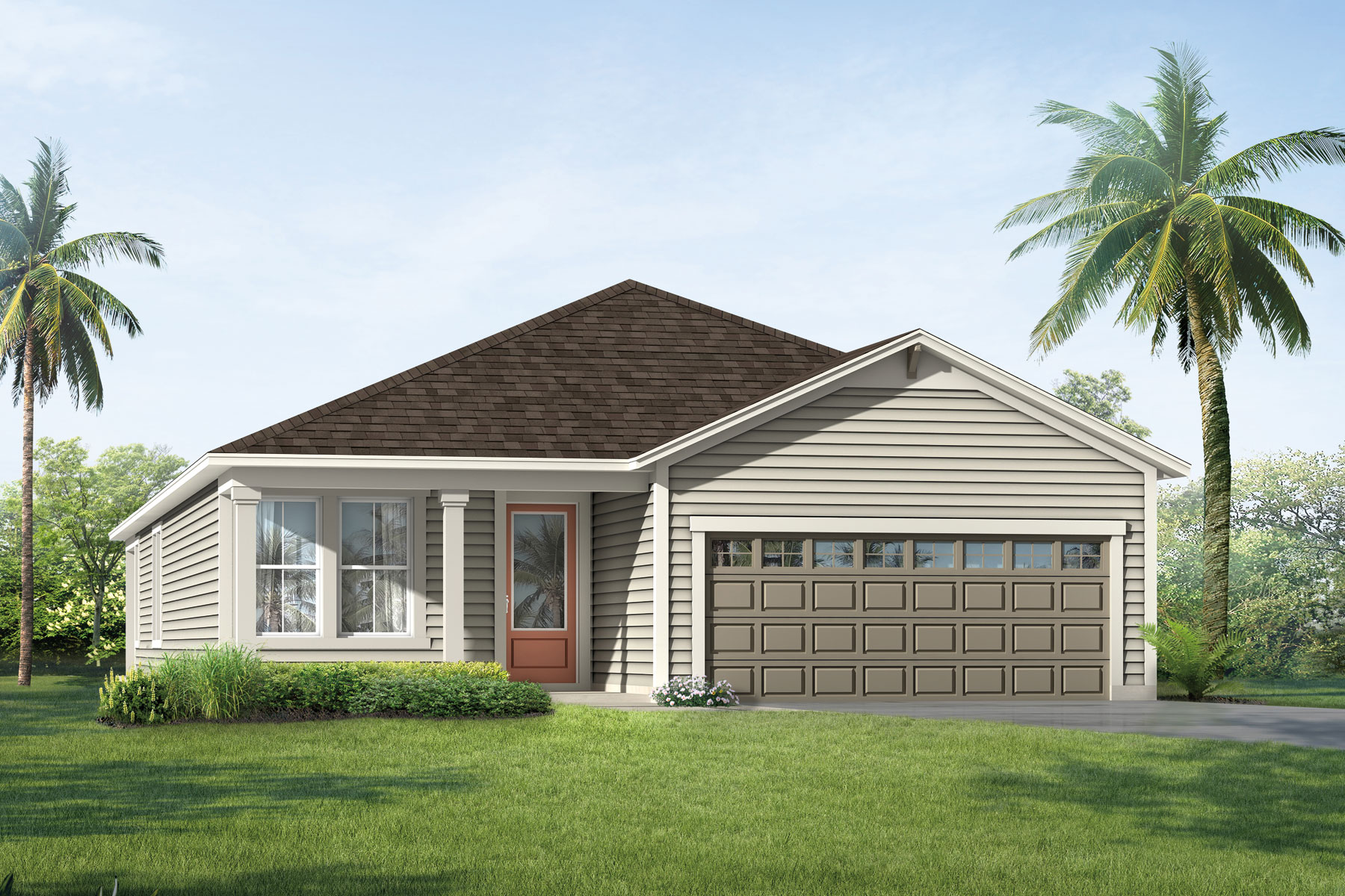 Heron Plan Elevation Front at RiverTown - Arbors in St. Johns Florida by Mattamy Homes